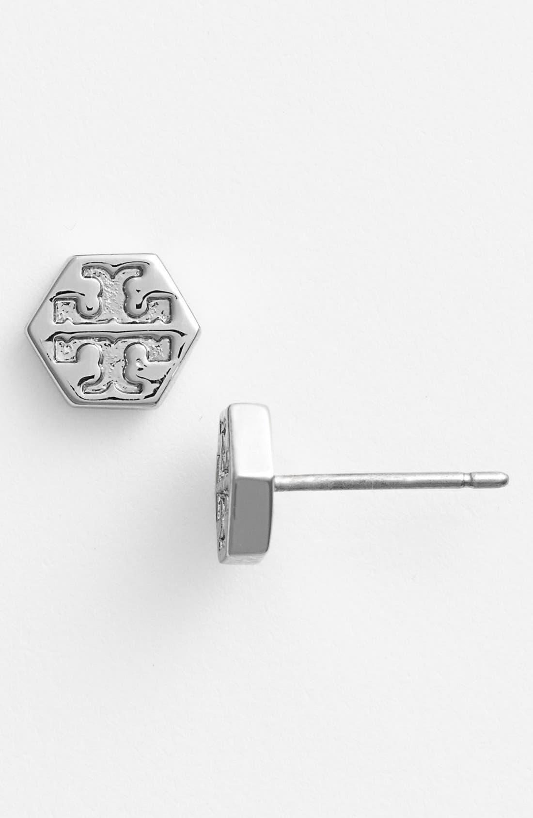 Alternate Image 1 Selected - Tory Burch Logo Stud Earrings