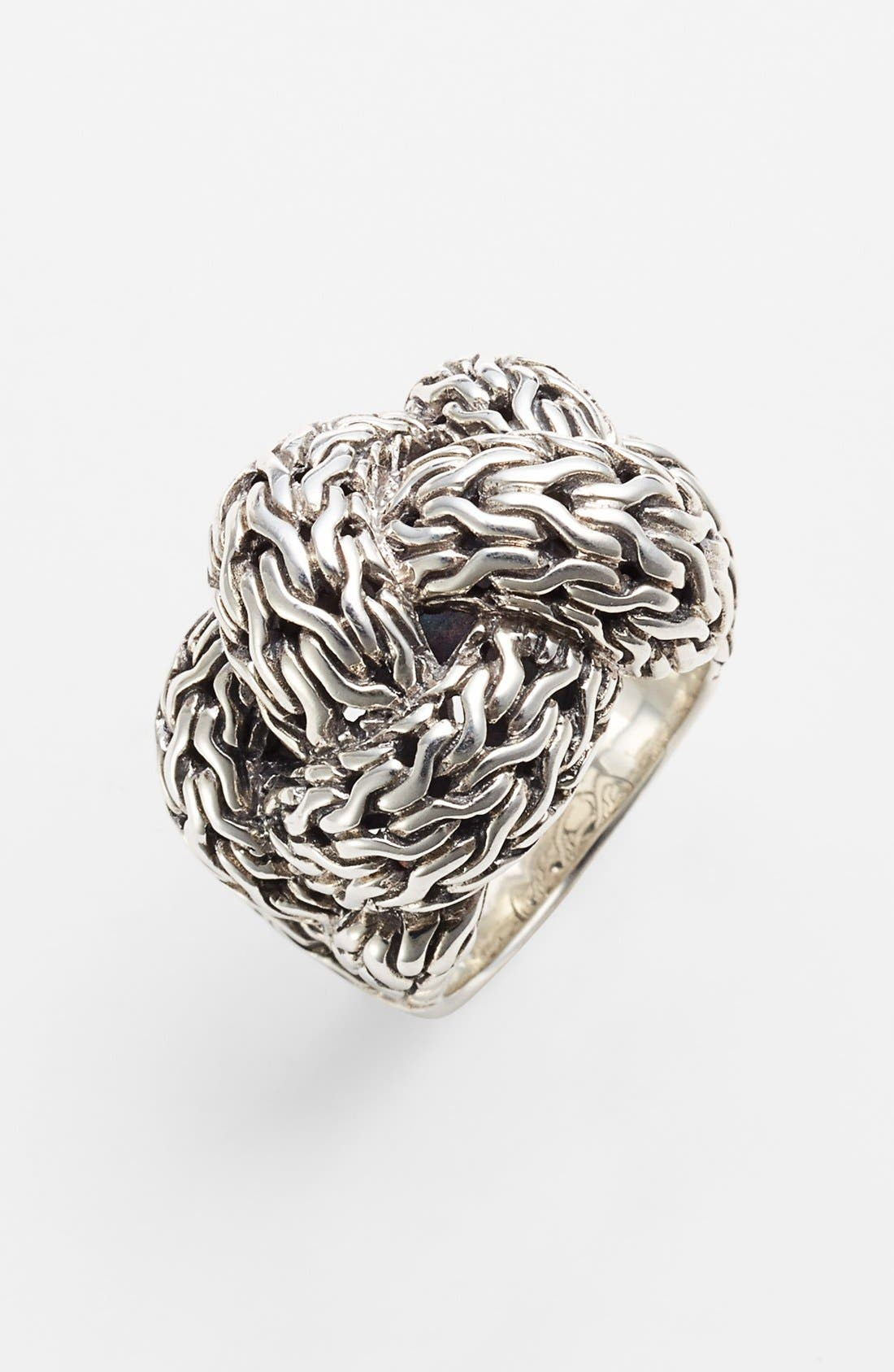 Alternate Image 1 Selected - John Hardy 'Classic Chain' Large Braided Ring