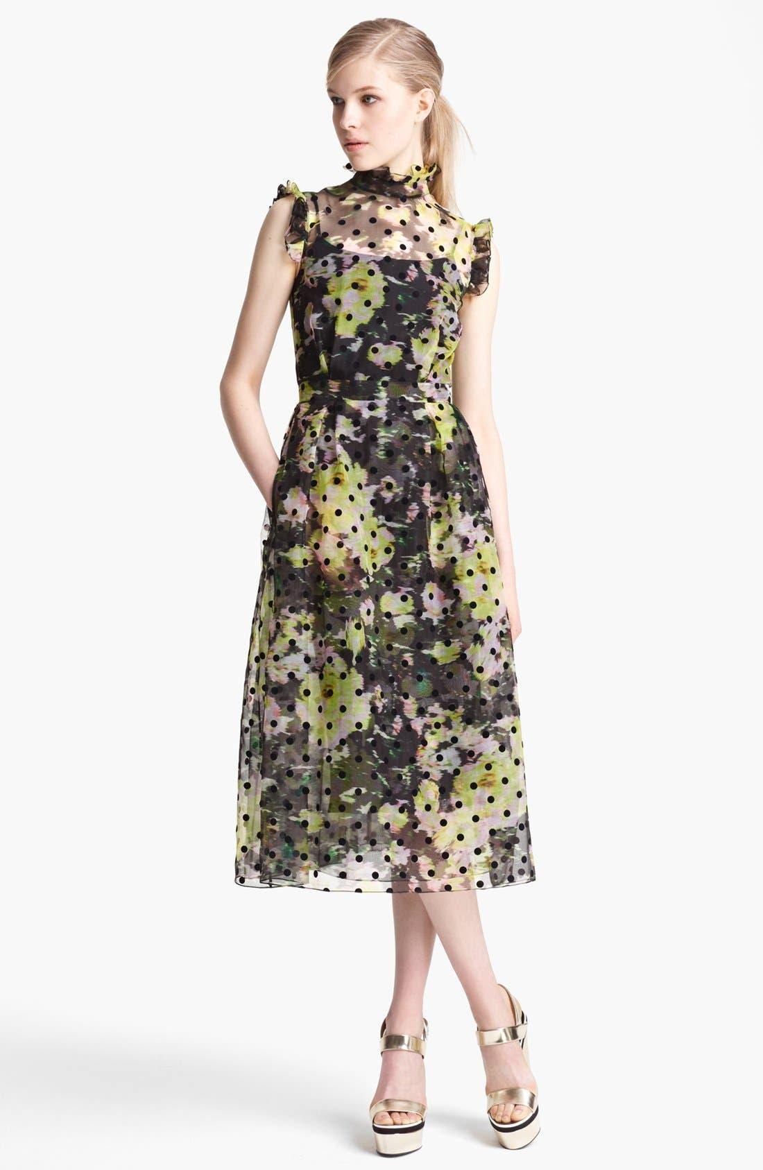 Main Image - Erdem 'Clarity' Dot Floral Print Organza Dress