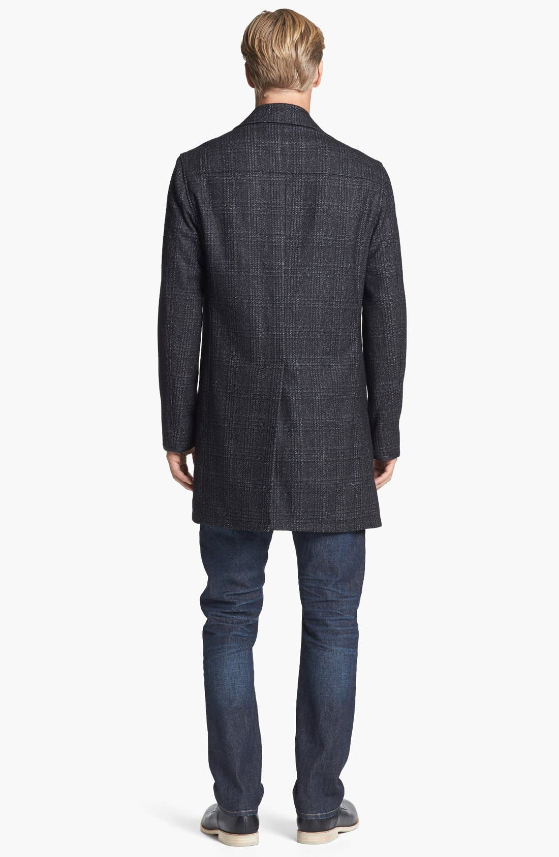 Alternate Image 5  - John Varvatos Star USA Wool Topcoat