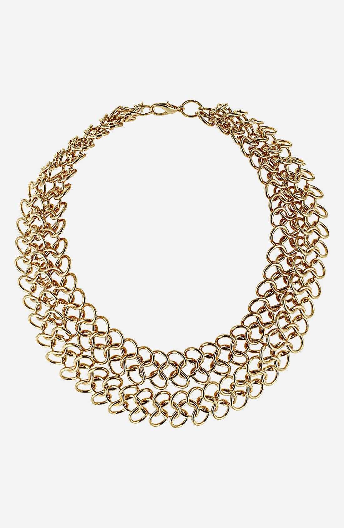 Main Image - Topshop Figure Eight Chain Collar