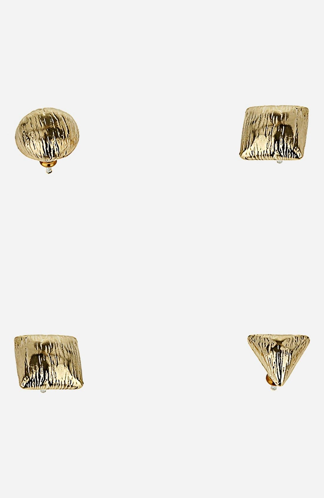 Alternate Image 1 Selected - Topshop Mixed Stud Earrings Pack (Set of 4)
