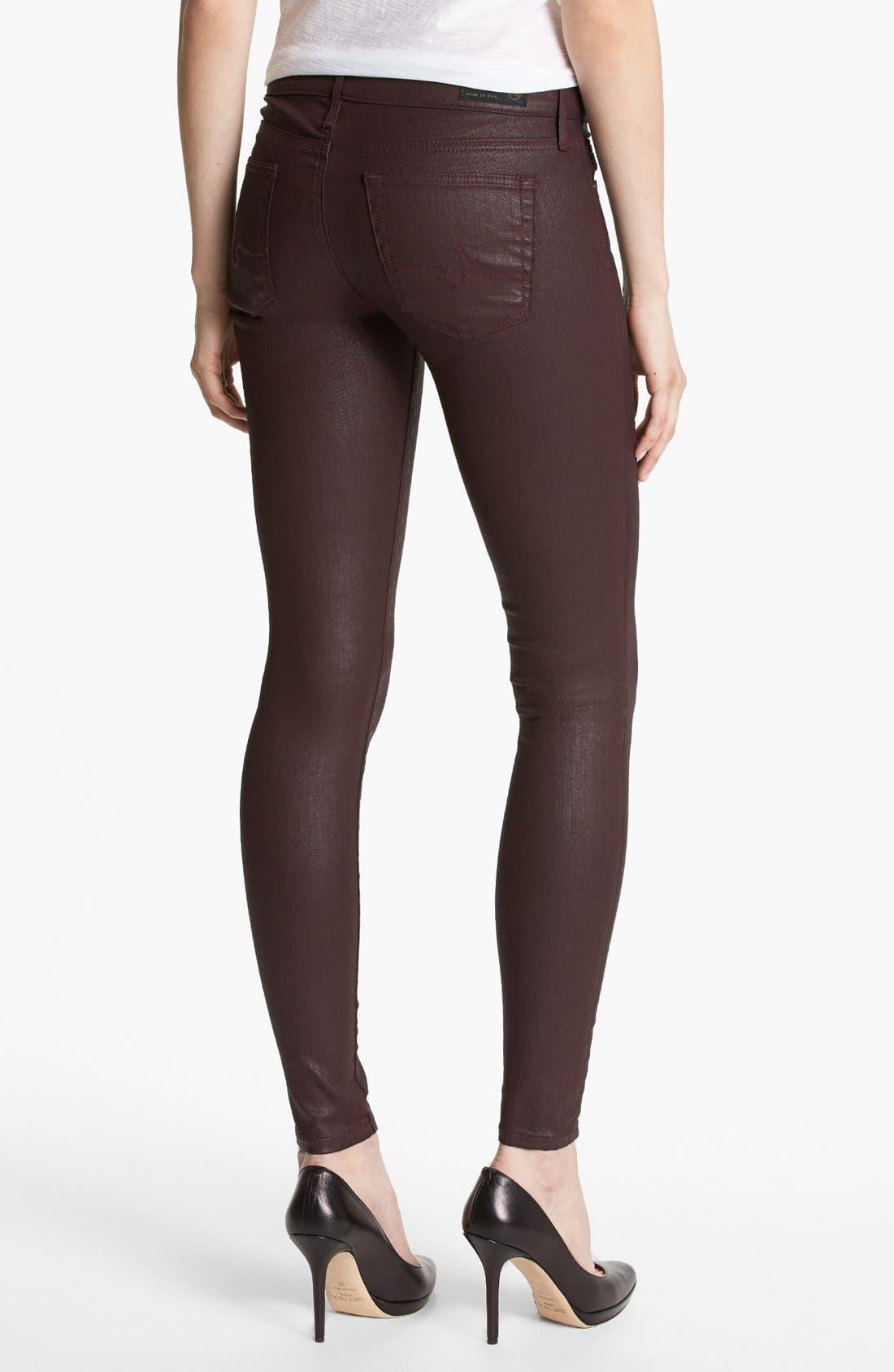 Alternate Image 2  - AG 'The Absolute Legging' Coated Skinny Jeans (Brave)