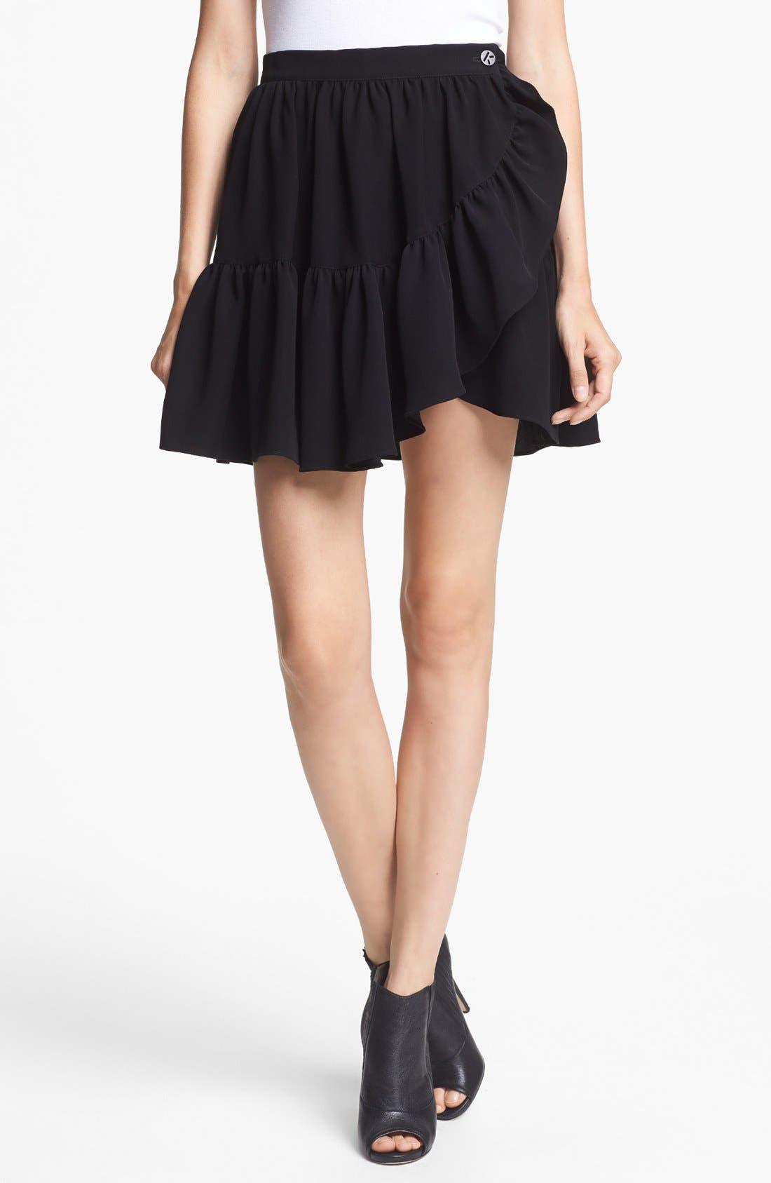 Alternate Image 1 Selected - KENZO Twill Ruffle Skirt