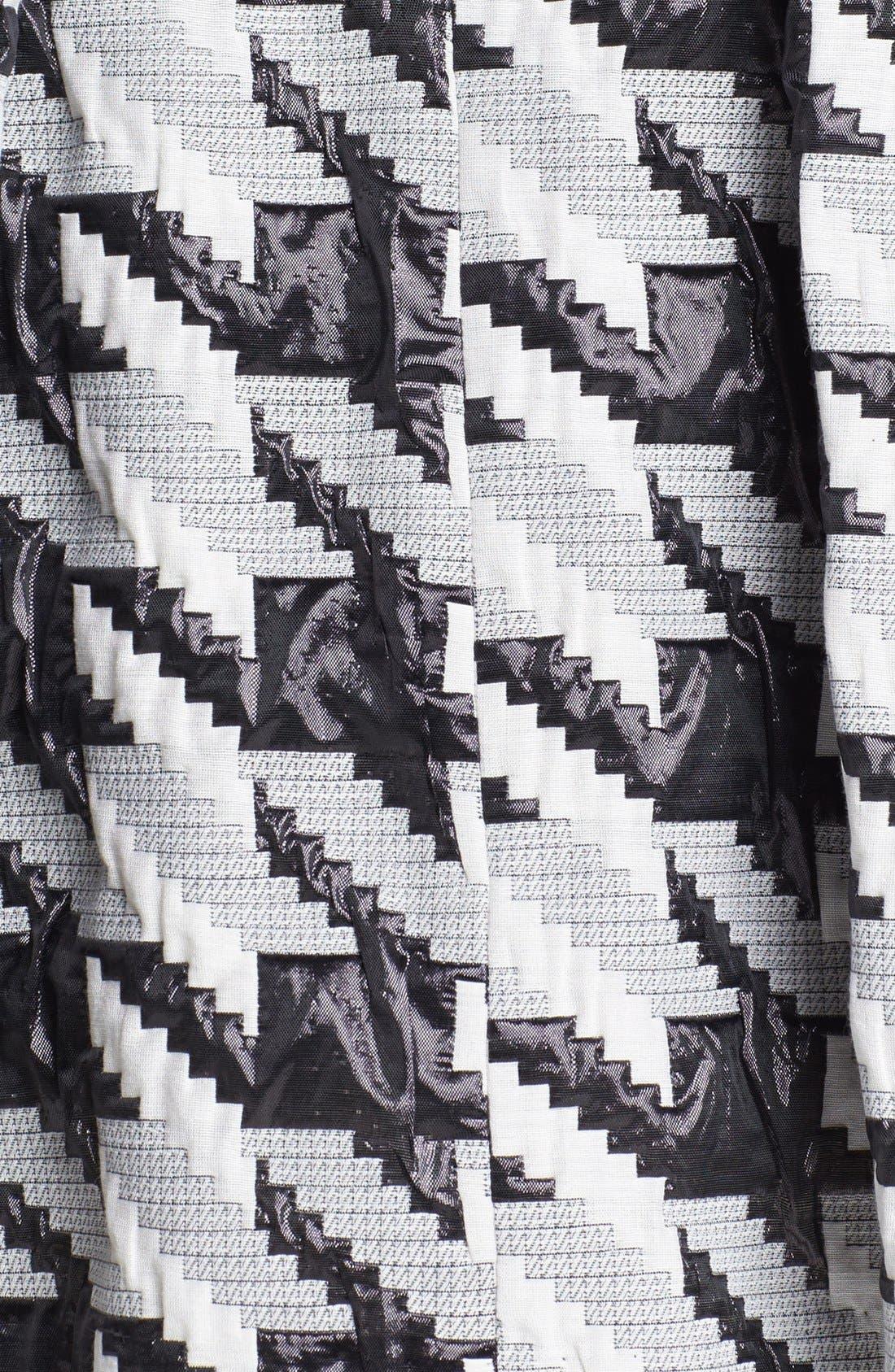 Alternate Image 3  - Pink Tartan Houndstooth Jacquard Pleat Skirt