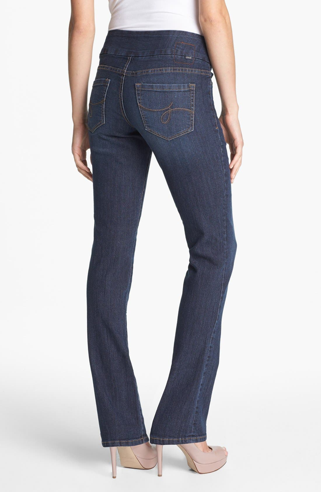 Alternate Image 2  - Jag Jeans 'Paley' Pull-On Bootcut Jeans (Atlantic Blue) (Petite)
