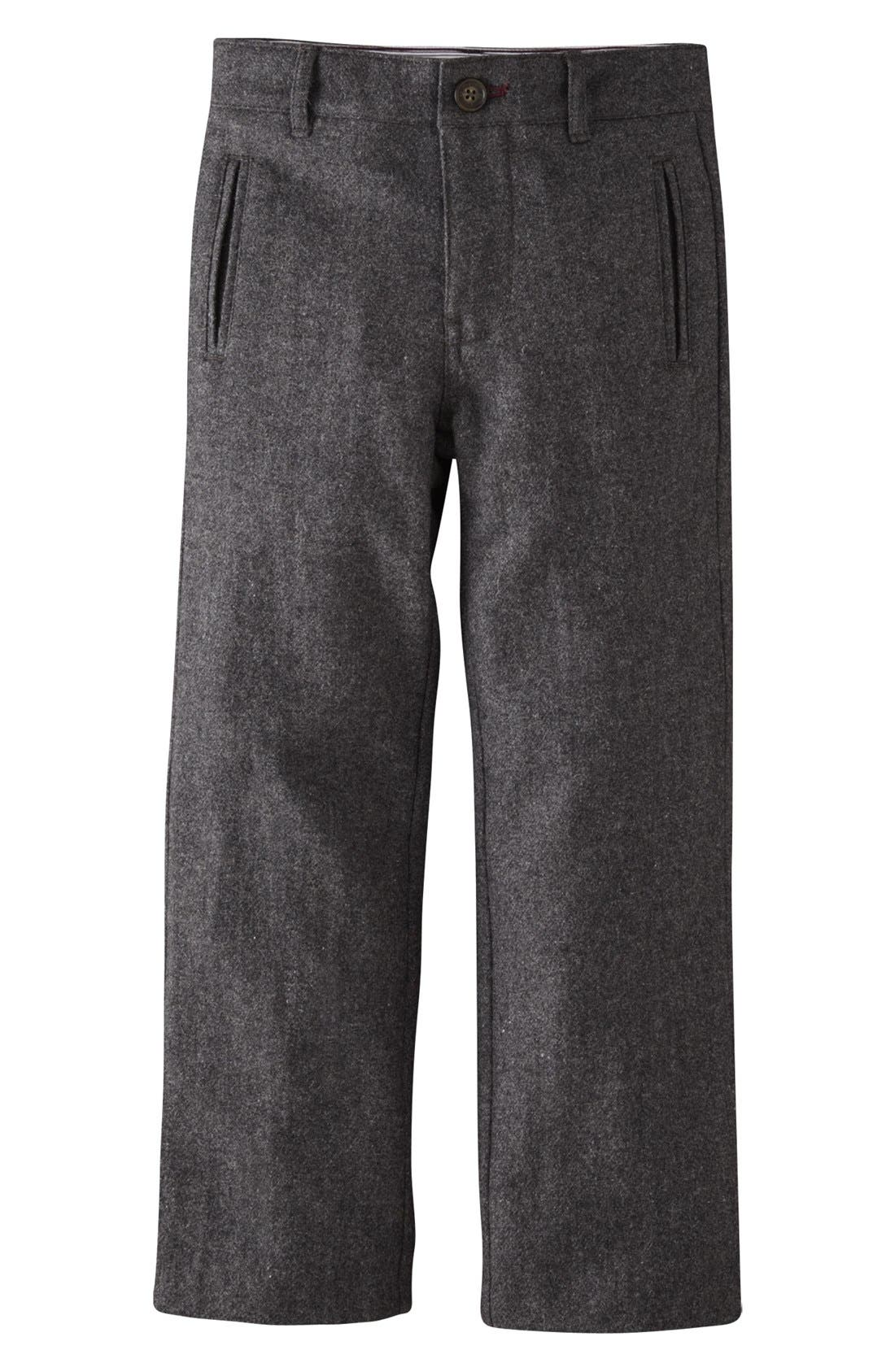 Alternate Image 1 Selected - Mini Boden Wool Trousers (Toddler Boys)
