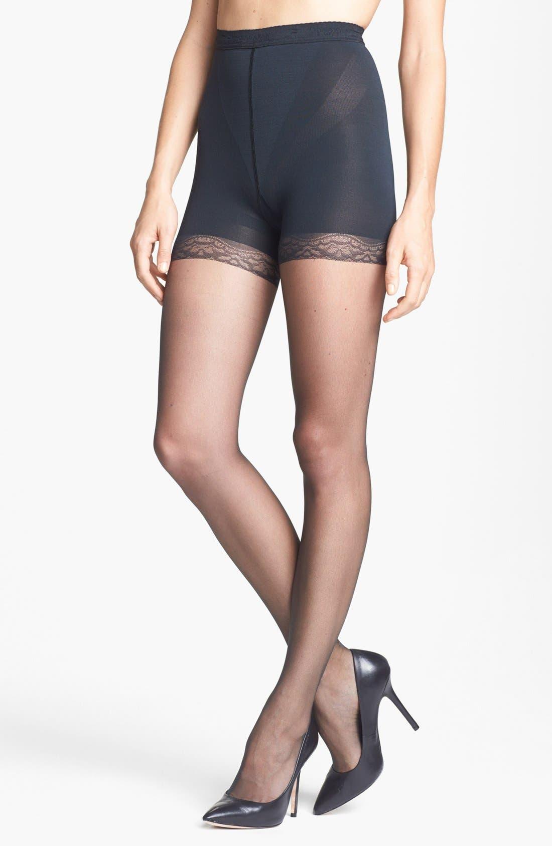Donna Karan The Nudes Pantyhose,                         Main,                         color, Charcoal