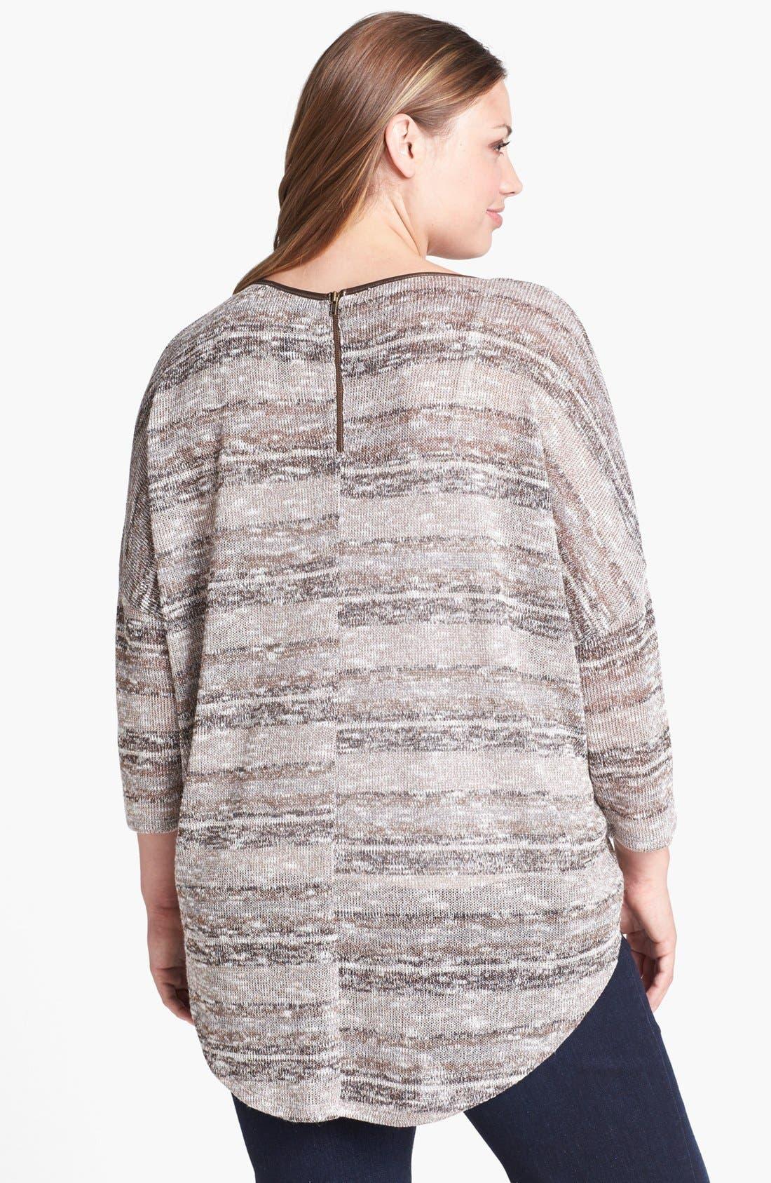 Alternate Image 2  - Jessica Simpson 'Melanee' Sweater (Plus Size)