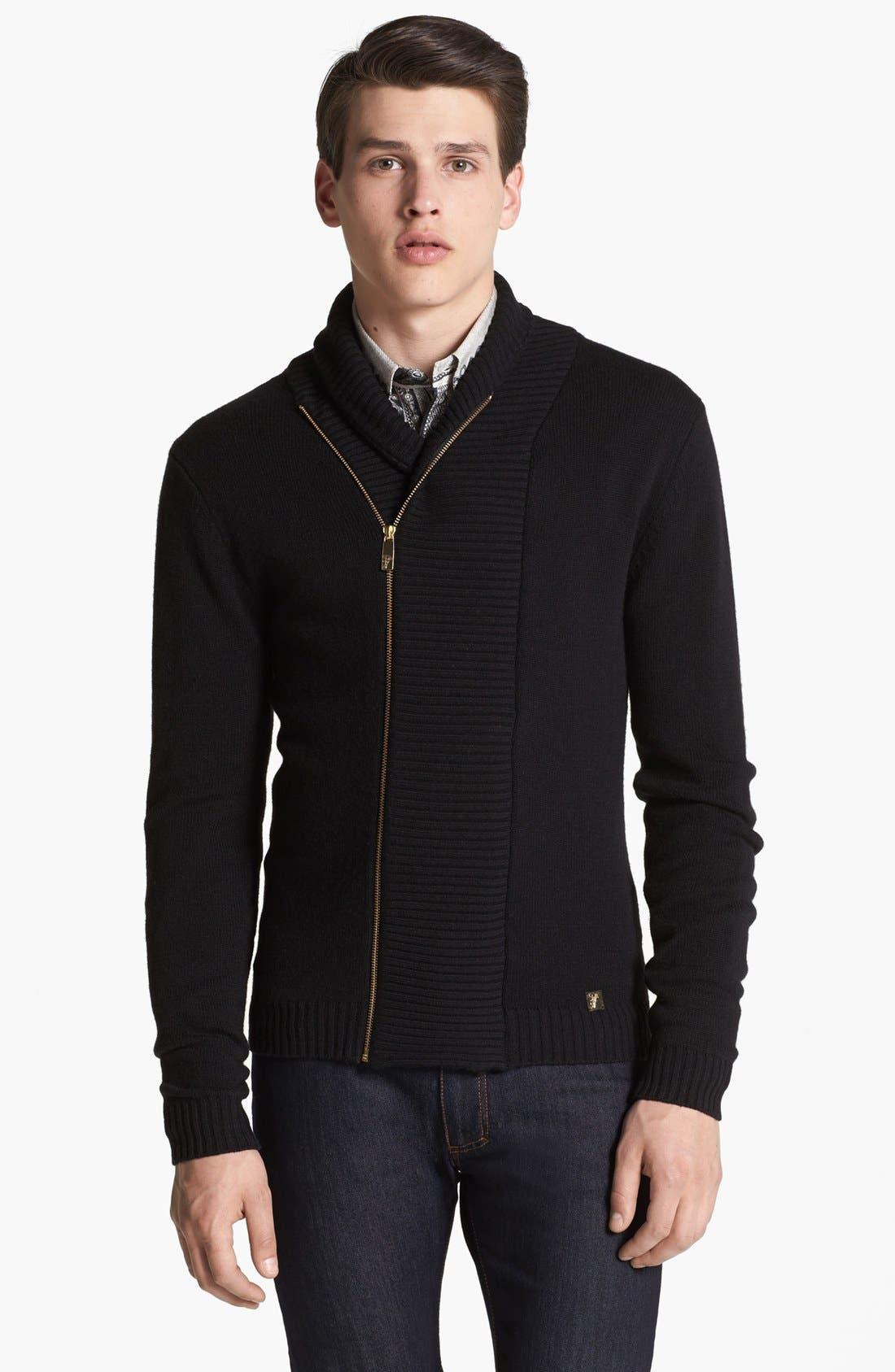 Main Image - Versace Shawl Collar Sweater