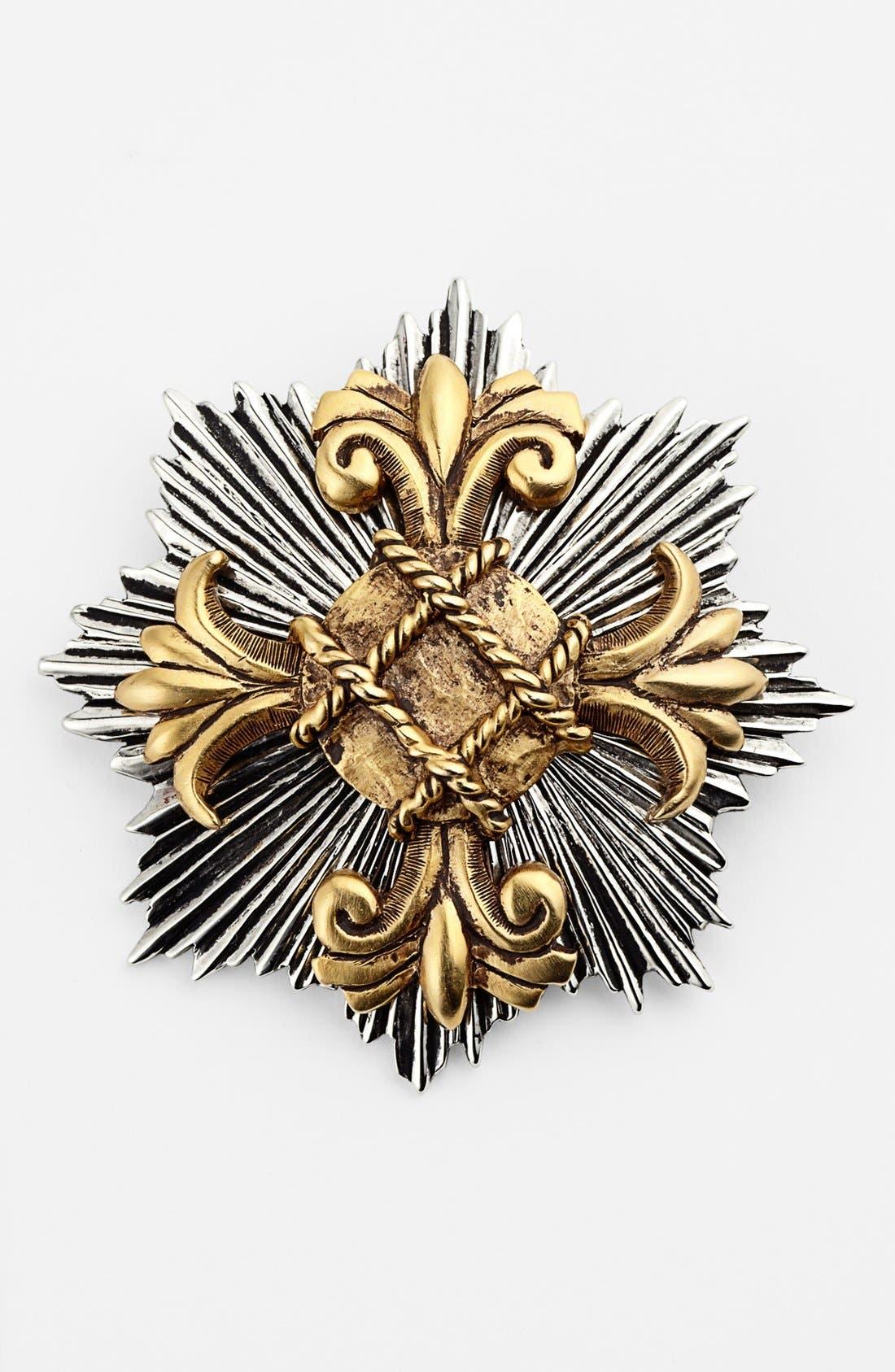 Main Image - Nordstrom Starburst Cross Brooch