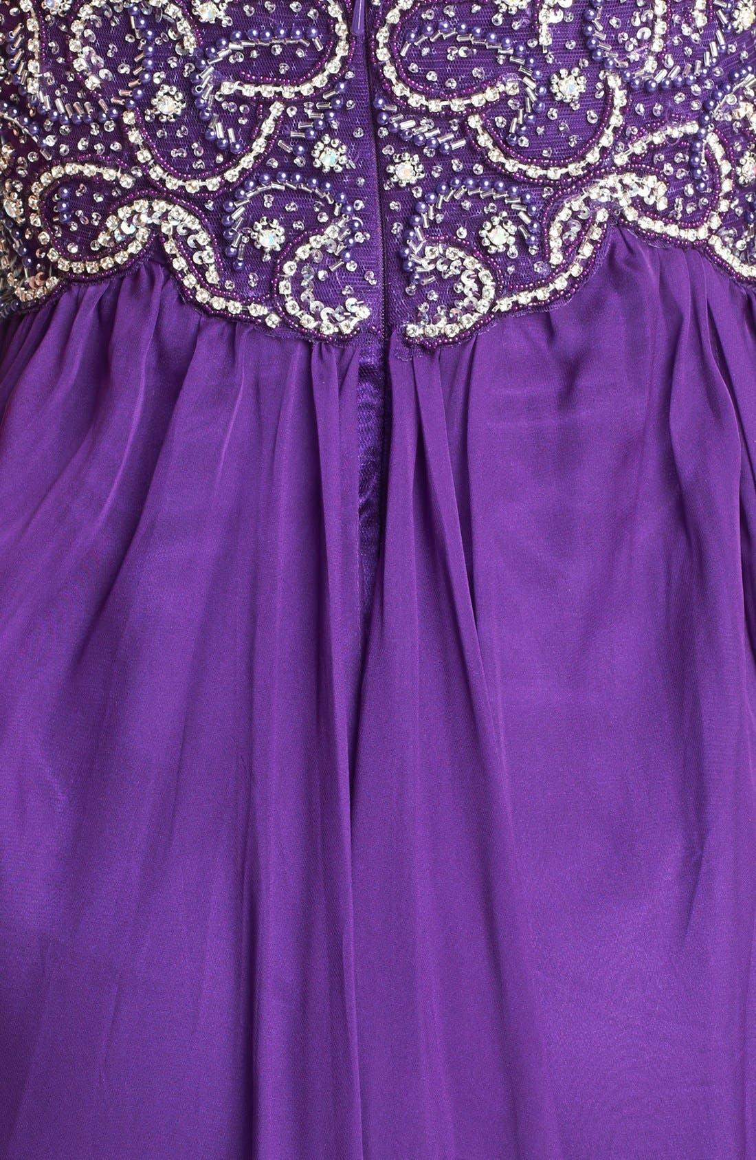 Alternate Image 3  - Sherri Hill Embellished Bodice Draped Chiffon Gown