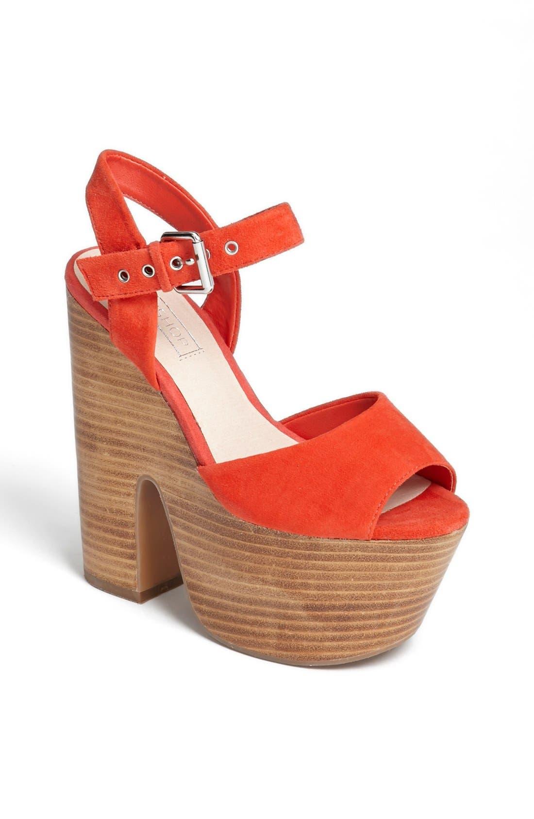 Main Image - Topshop 'Lassie' Platform Sandal