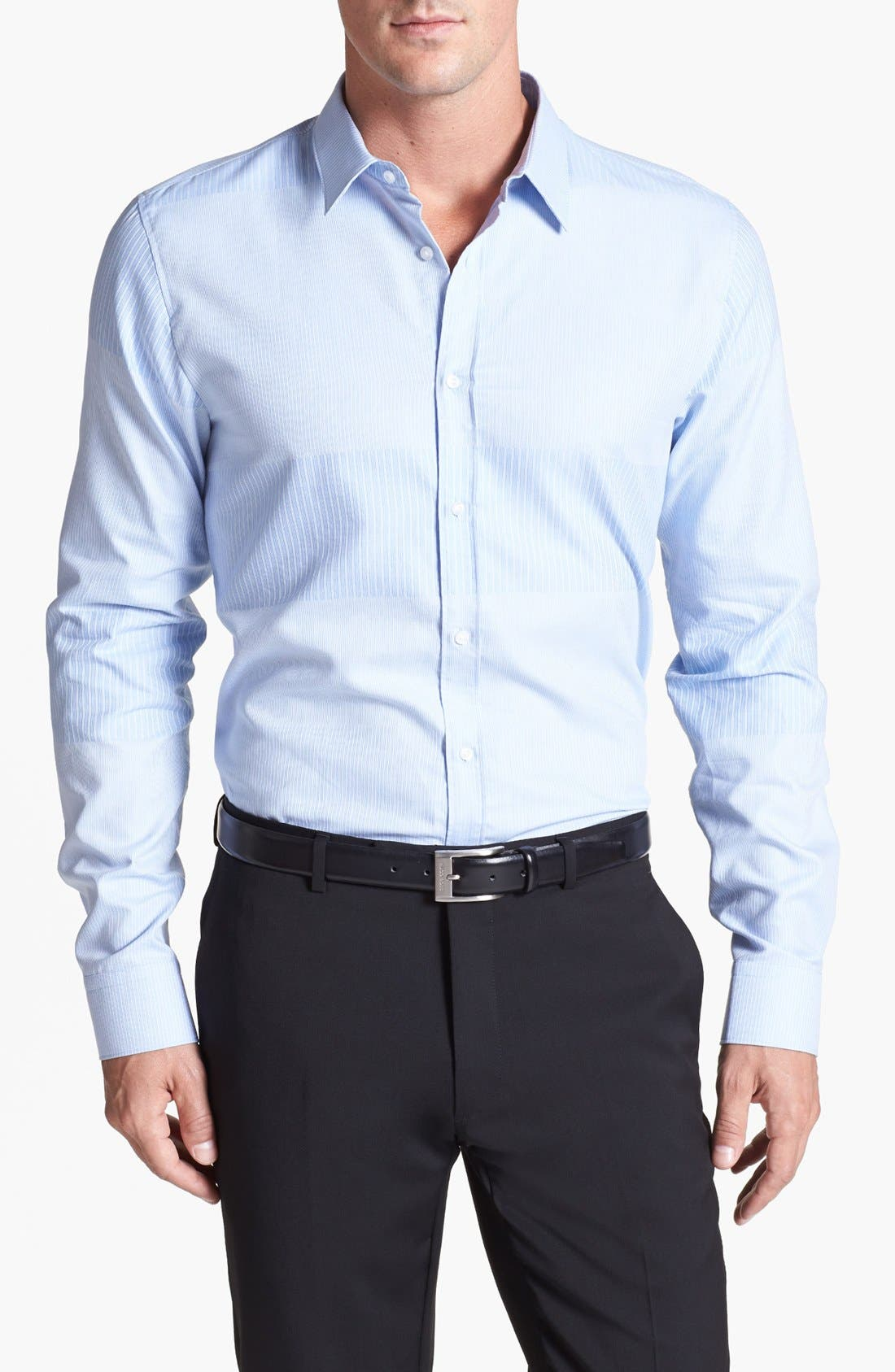 Alternate Image 1 Selected - HUGO 'Elisha' Trim Fit Sport Shirt