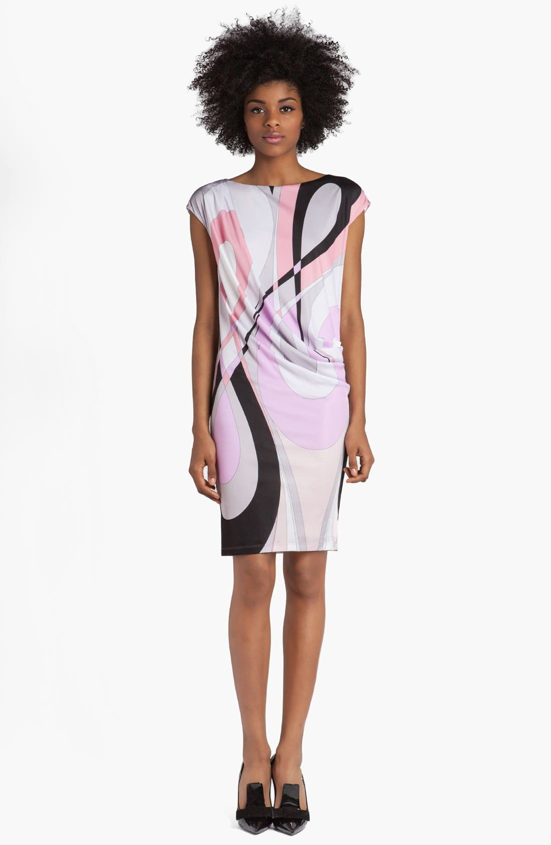 Alternate Image 1 Selected - Emilio Pucci 'Otto Print' Cap Sleeve Jersey Dress