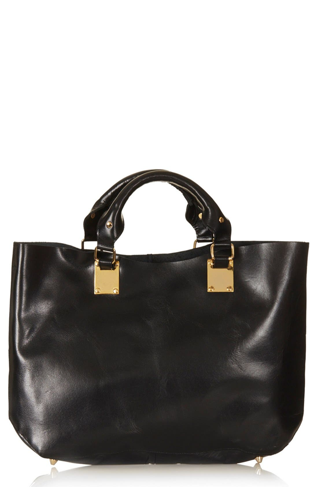 Alternate Image 1 Selected - Topshop Leather Tote, Extra Large