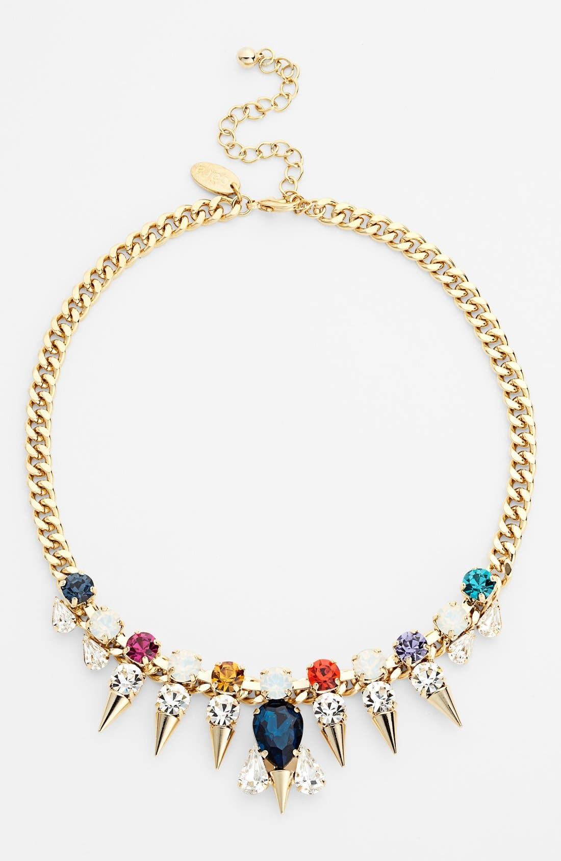Main Image - Cara Multicolor Stone Spike Collar Necklace