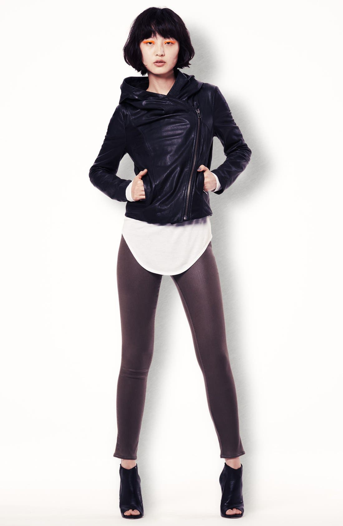 Alternate Image 7  - HELMUT Helmut Lang Hooded Washed Leather Jacket