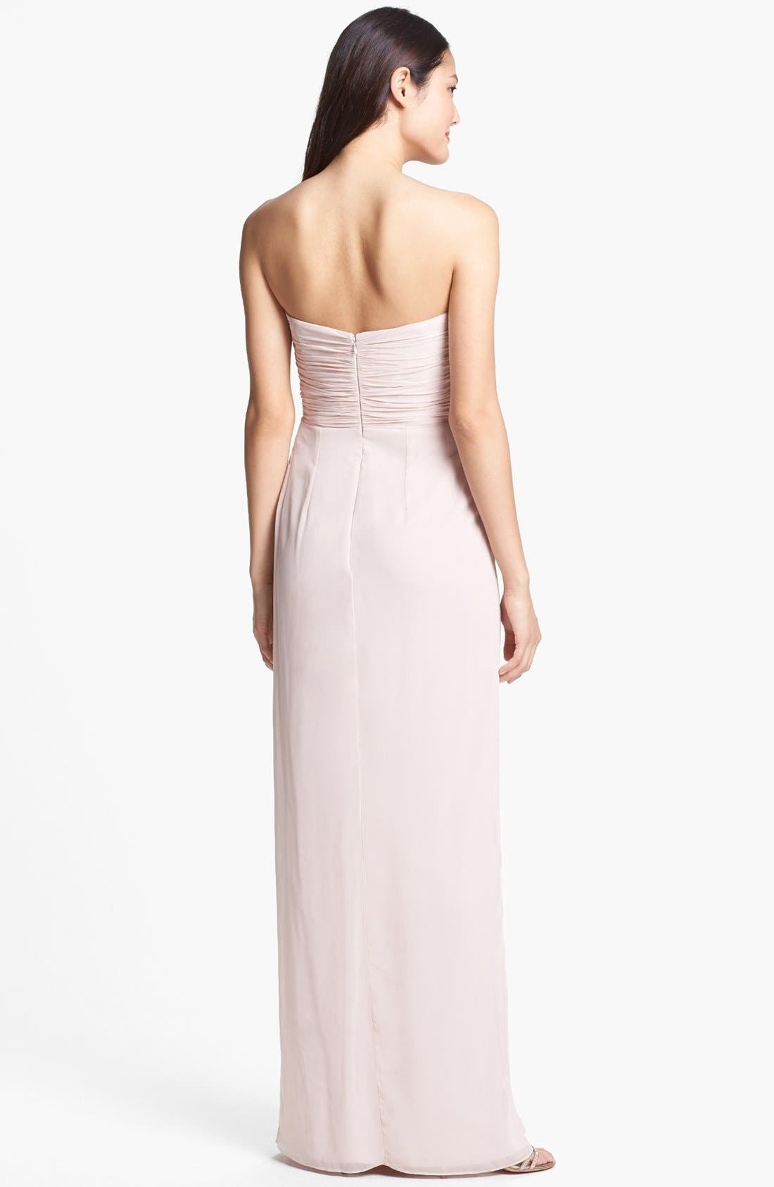 Alternate Image 2  - Dessy Collection Draped Chiffon Gown