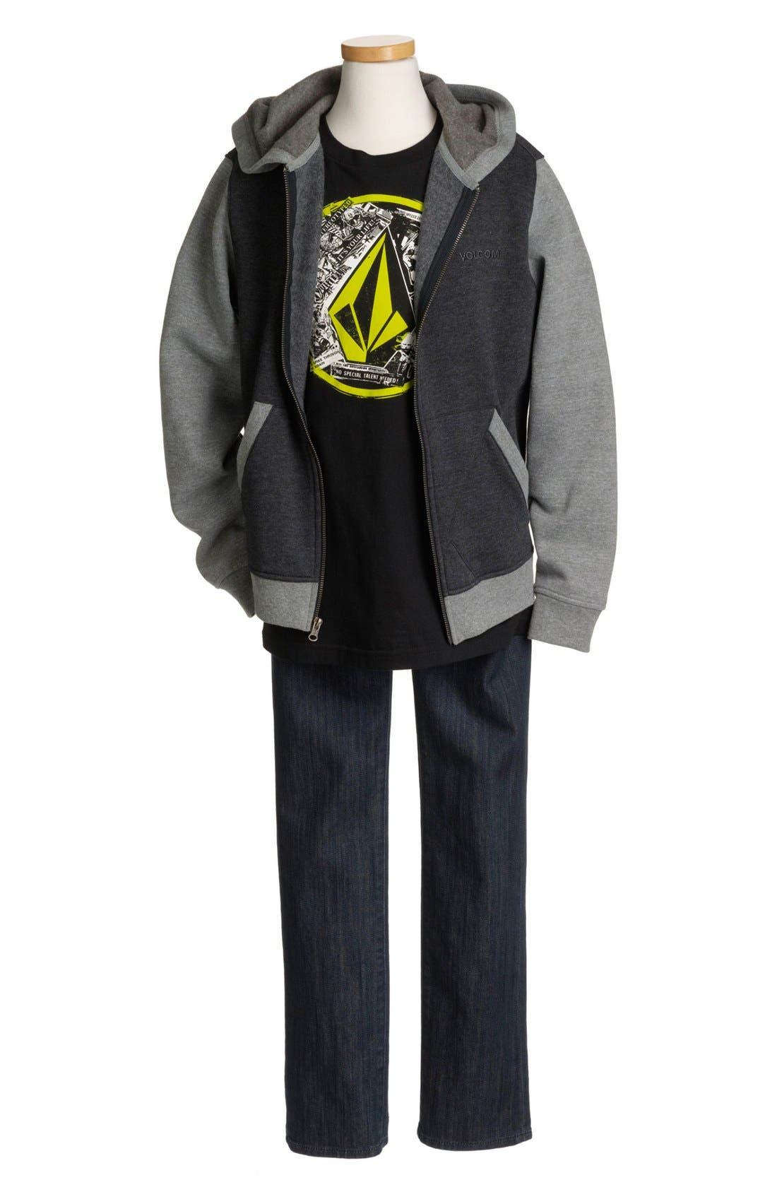 Main Image - Volcom Hoodie, T-Shirt & Jeans (Big Boys)