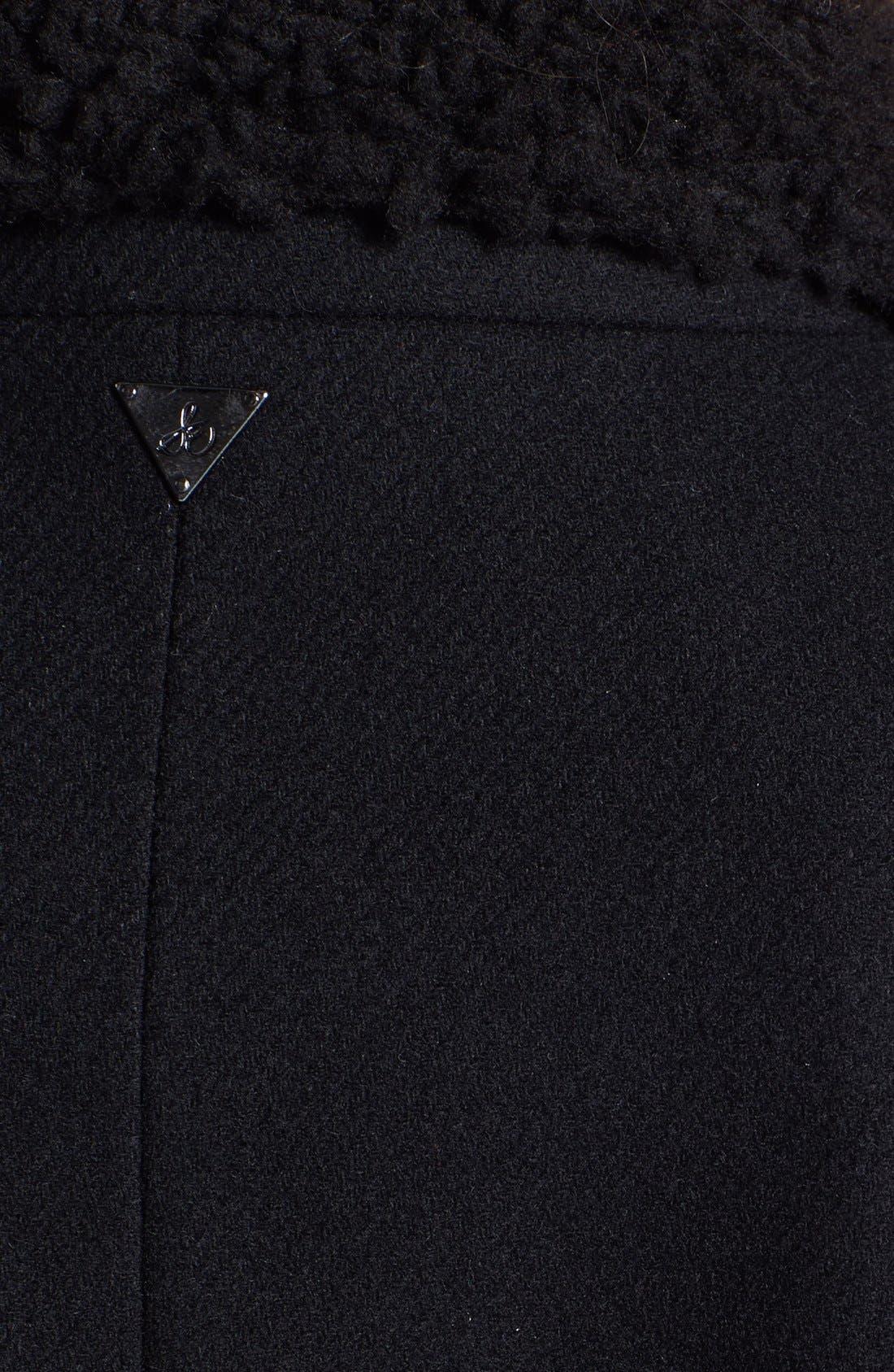 Alternate Image 3  - Sam Edelman 'Ana'  Faux Shearling Collar Trench Coat
