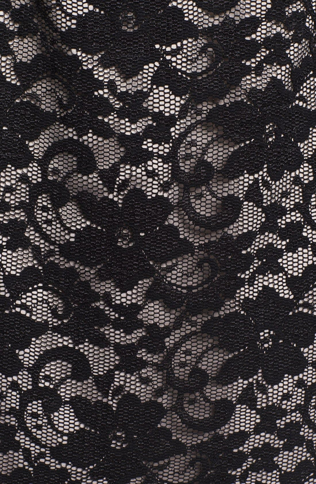 Alternate Image 4  - Eliza J Lace Metal Neckline Lace Sheath Dress