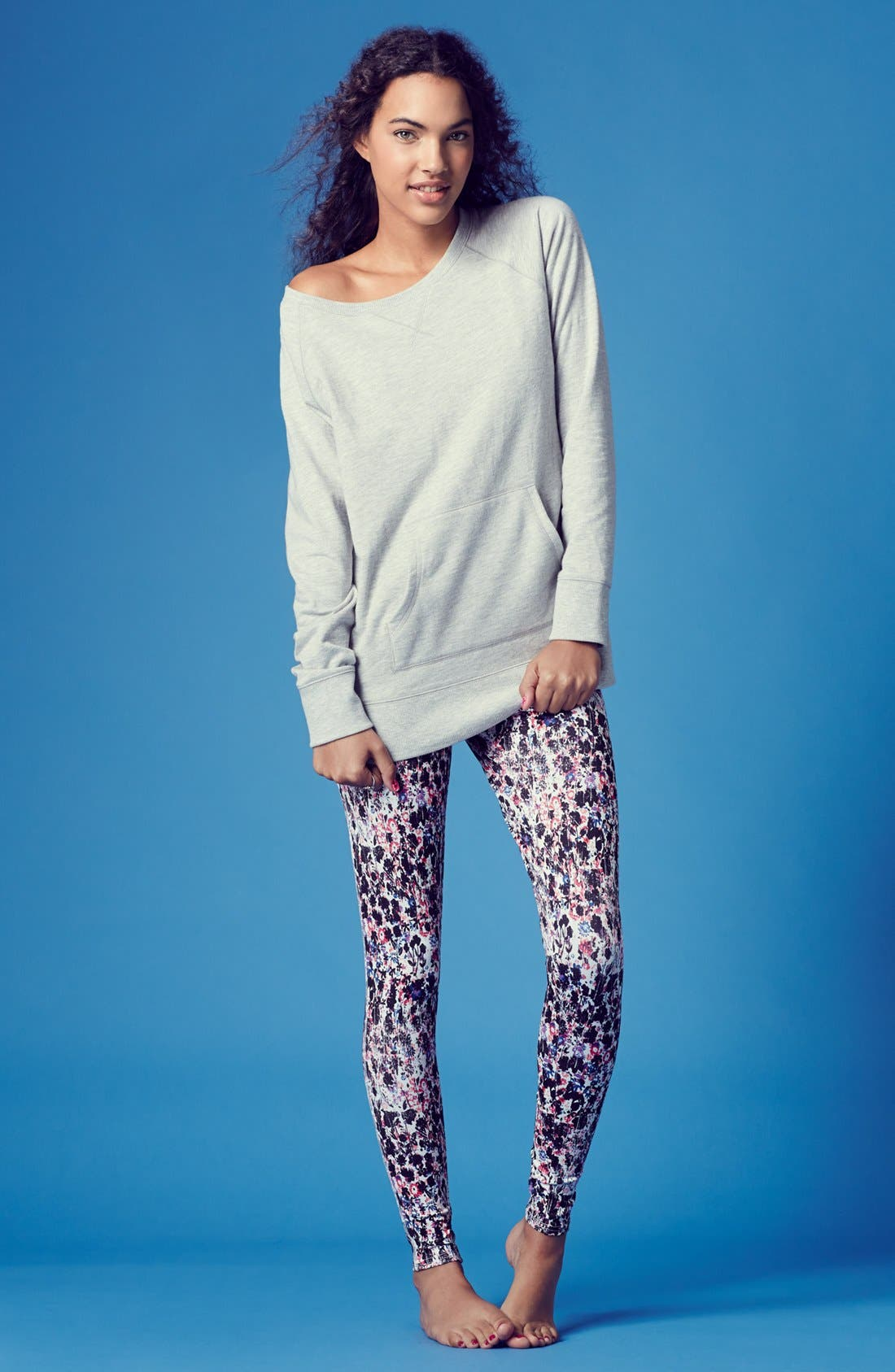 Alternate Image 4  - BP. Undercover 'Snuggle Up' Sweatshirt (Juniors)