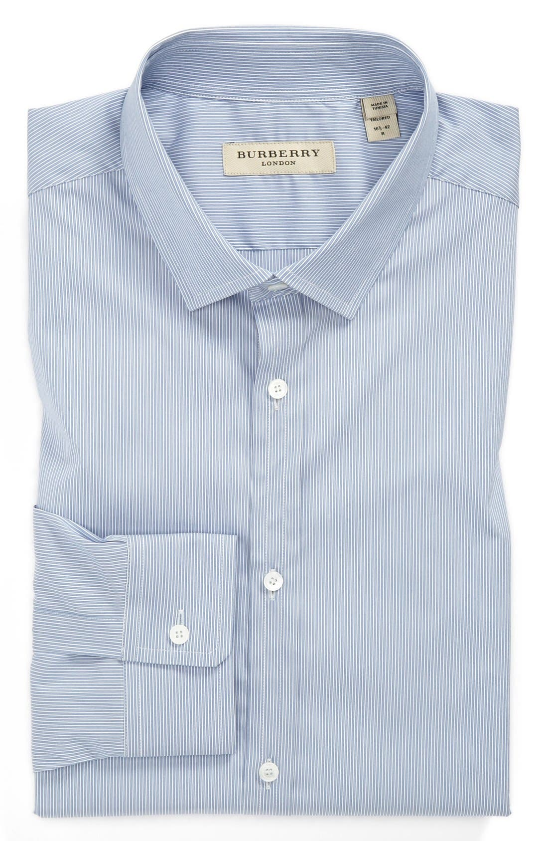 Alternate Image 1 Selected - Burberry London Stripe Tailored Fit Dress Shirt
