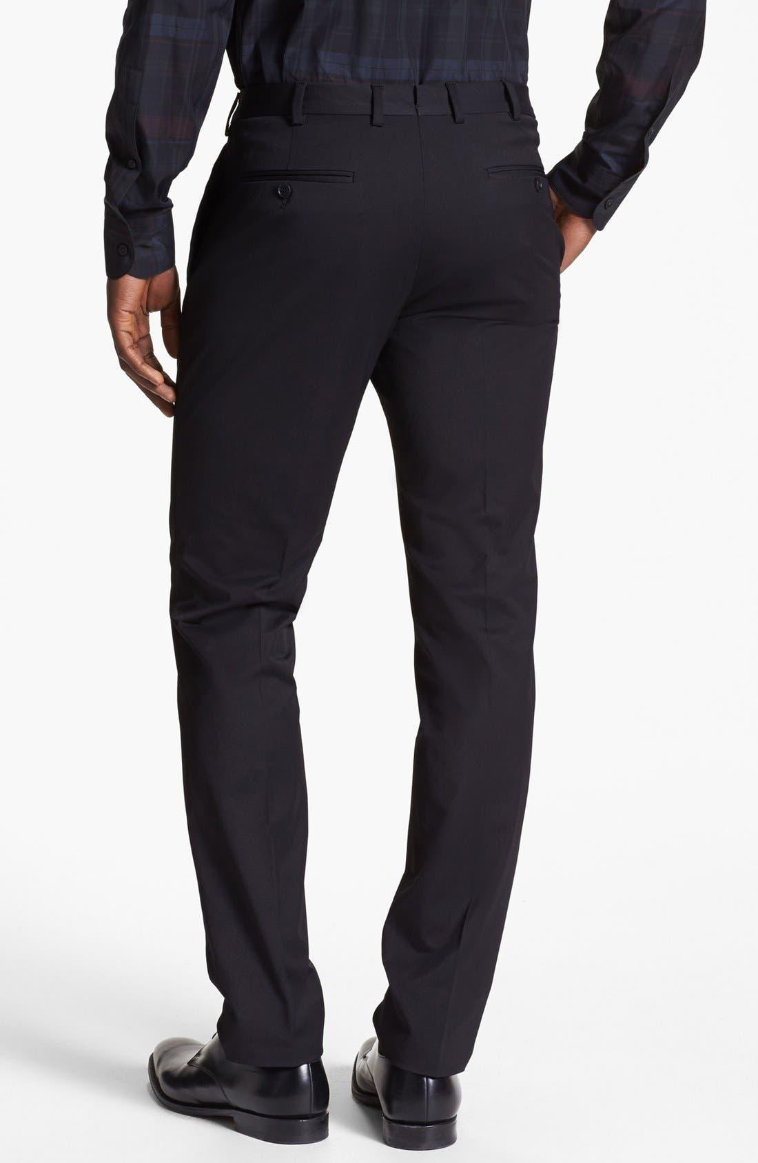 Alternate Image 2  - Z Zegna Slim Fit Gabardine Trousers