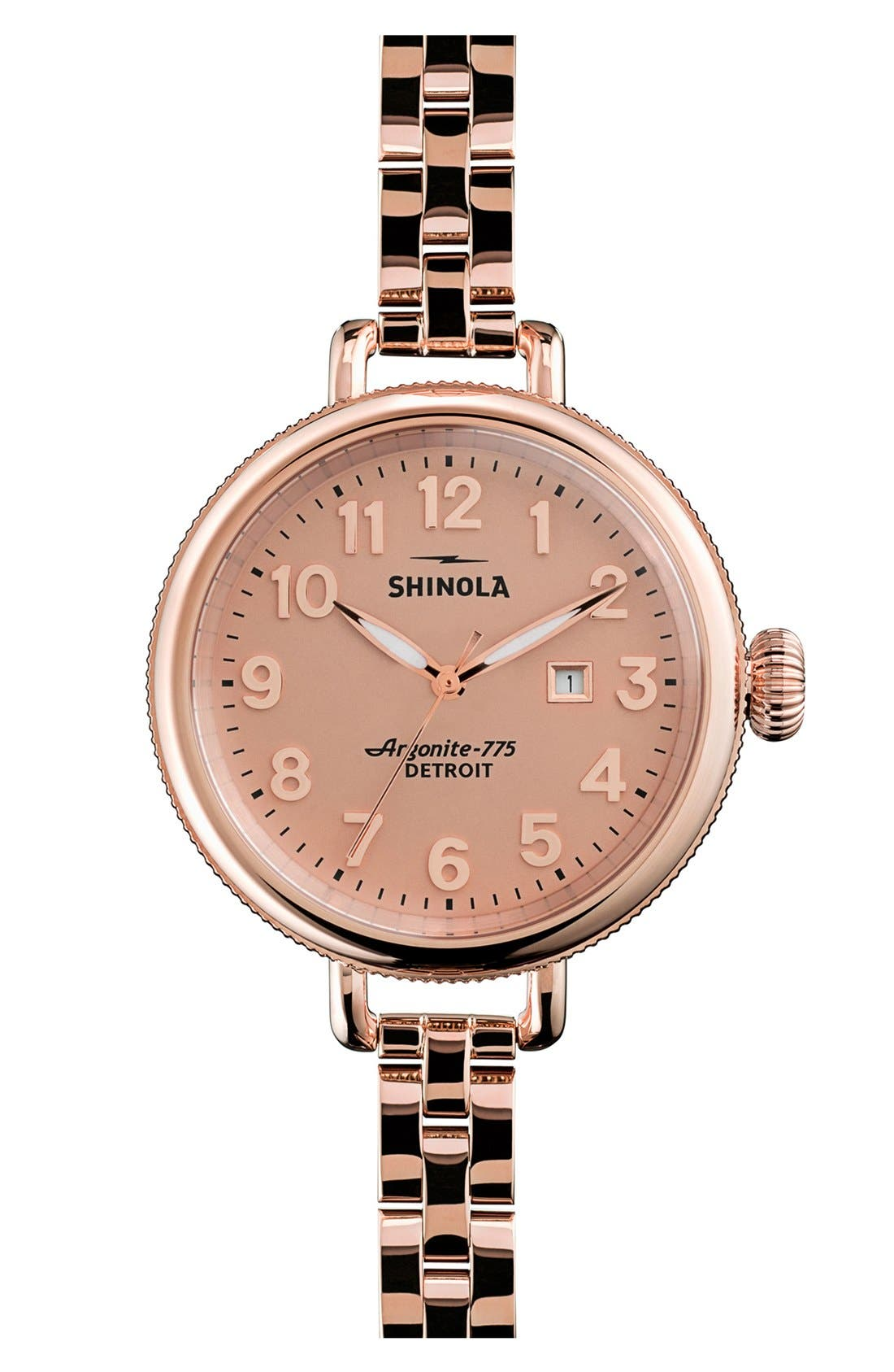'The Birdy' Bracelet Watch, 34mm,                         Main,                         color, Rose Gold