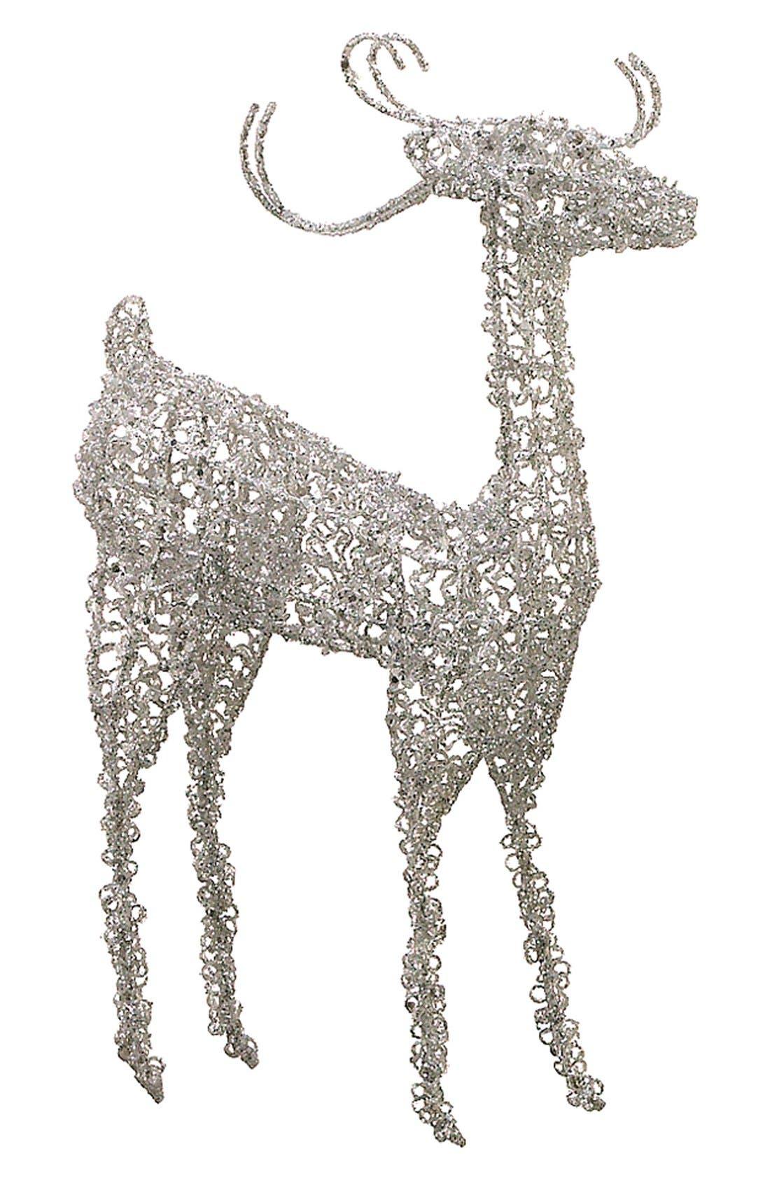 Main Image - ALLSTATE Glitter 'Raised Head Reindeer' Decoration