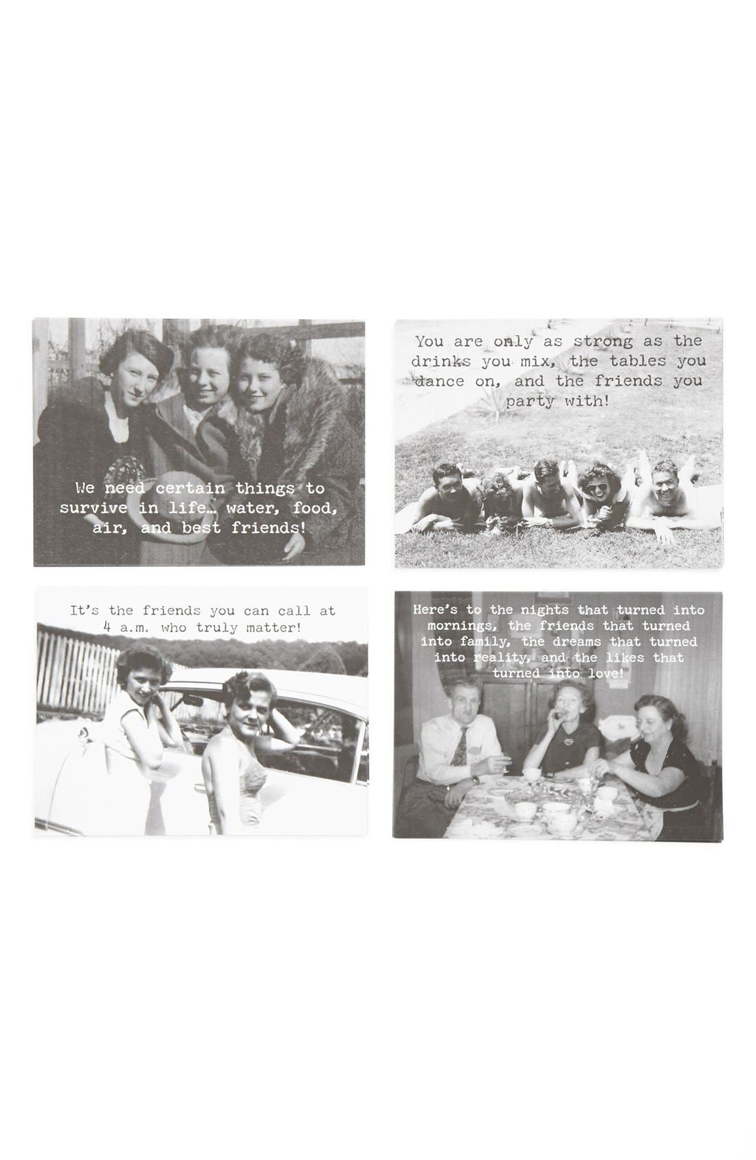 Main Image - Trash Talk by Annie 'Best Friends' Note Cards (Set of 8)