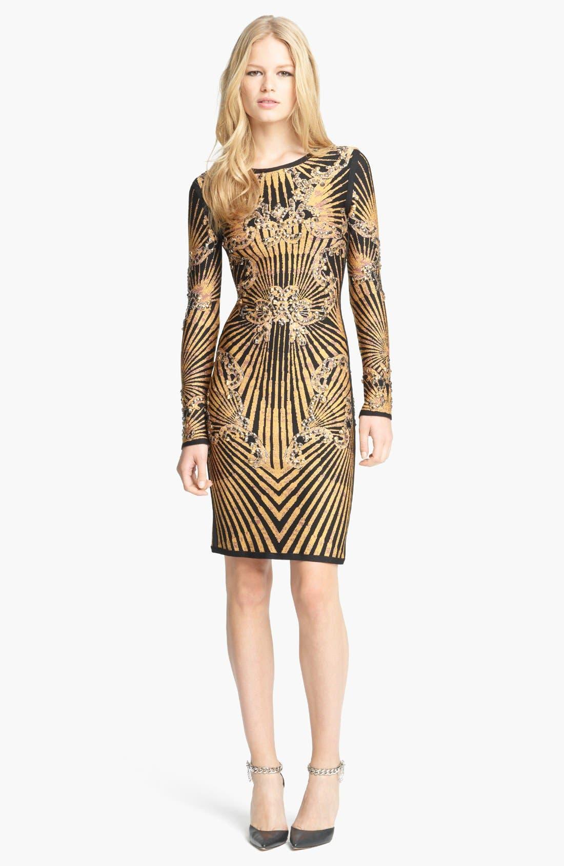 Alternate Image 1 Selected - Herve Leger Studded Knit Dress