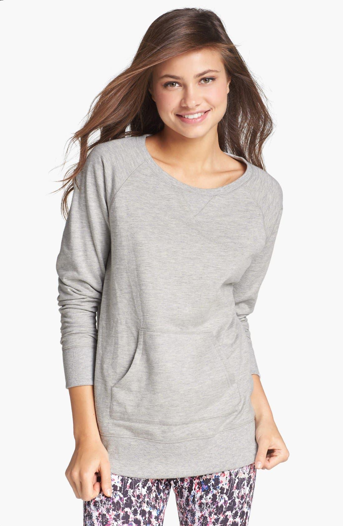 Alternate Image 1 Selected - BP. Undercover 'Snuggle Up' Sweatshirt (Juniors)