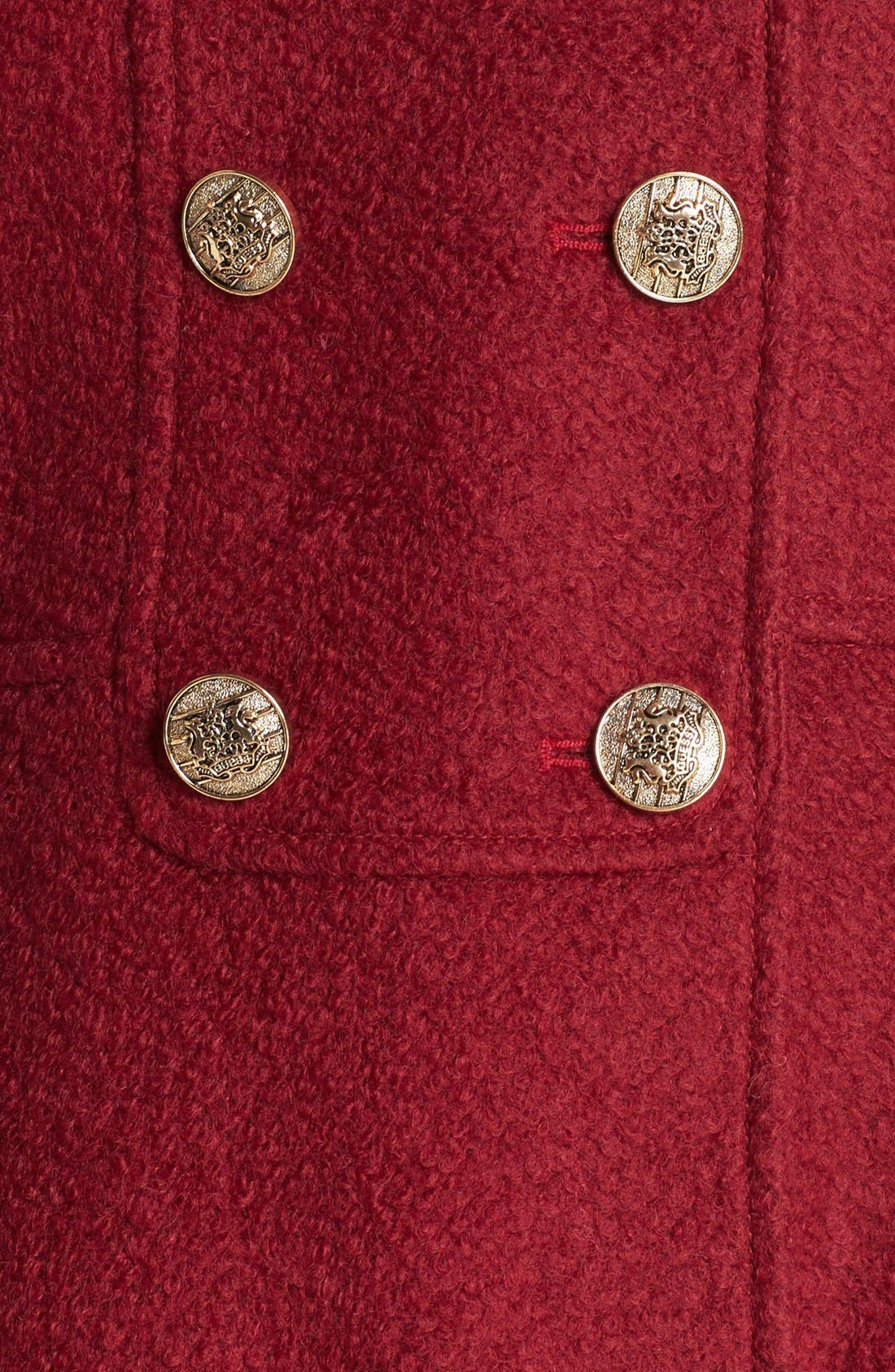 Alternate Image 3  - GUESS Fit & Flare Bouclé Military Coat (Online Only)