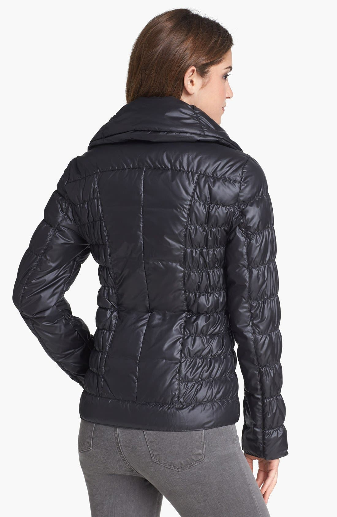 Alternate Image 2  - Kenneth Cole New York Ruched Packable Down Jacket