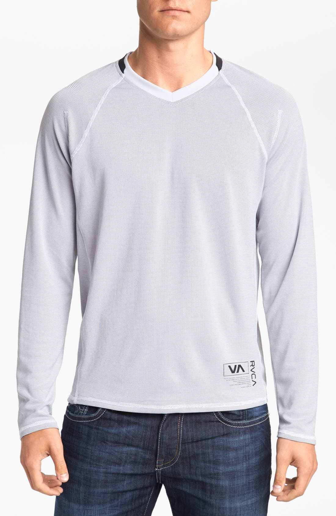Main Image - RVCA 'Fraction' Long Sleeve V-Neck T-Shirt