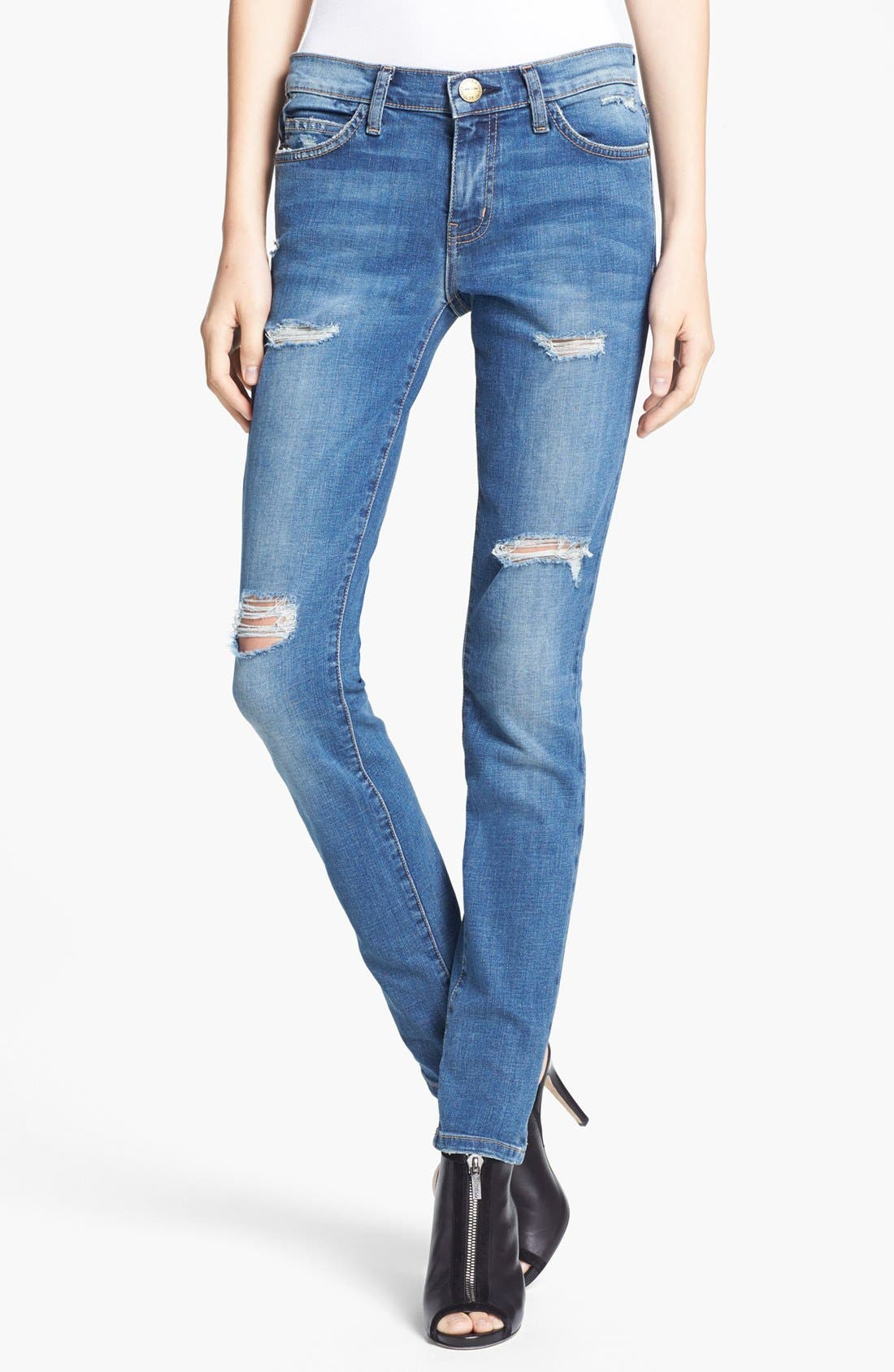 Alternate Image 1 Selected - Current/Elliott 'The Ankle Skinny' Jeans (Borough Destroy)