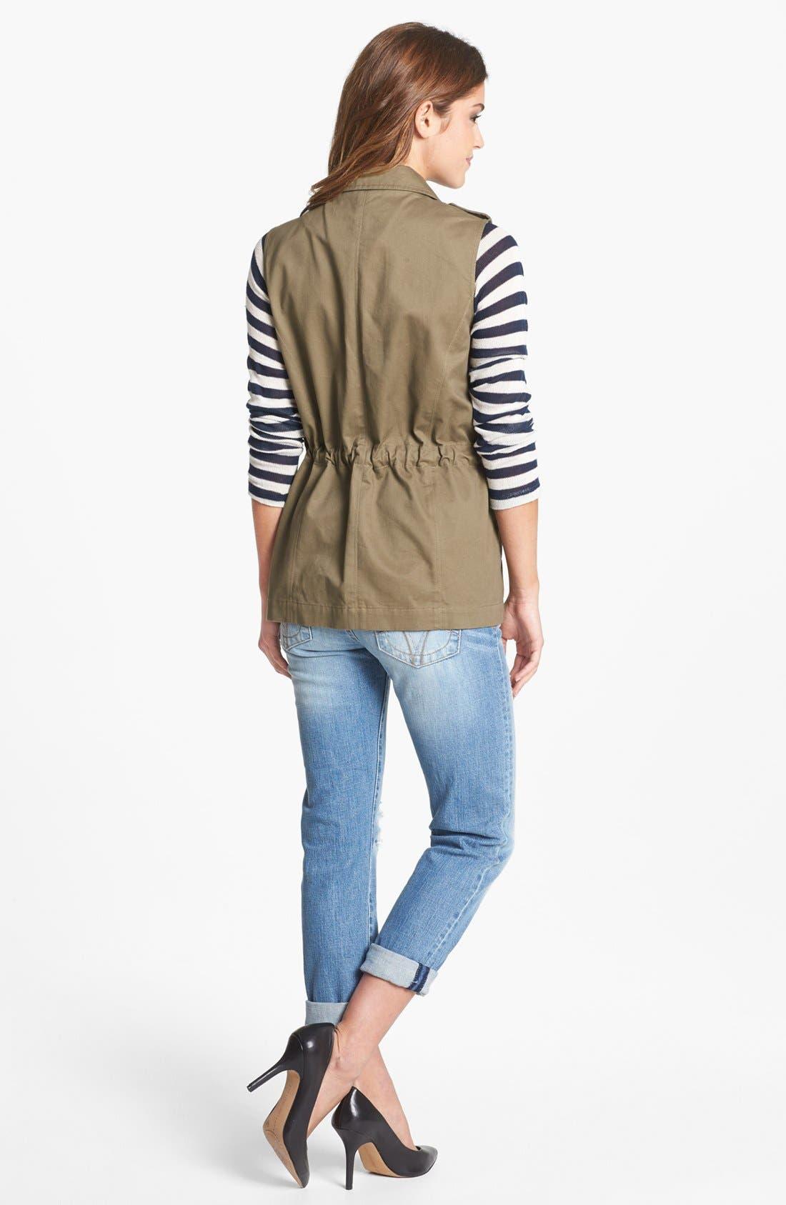 Alternate Image 2  - Olive & Oak Studded Utility Vest