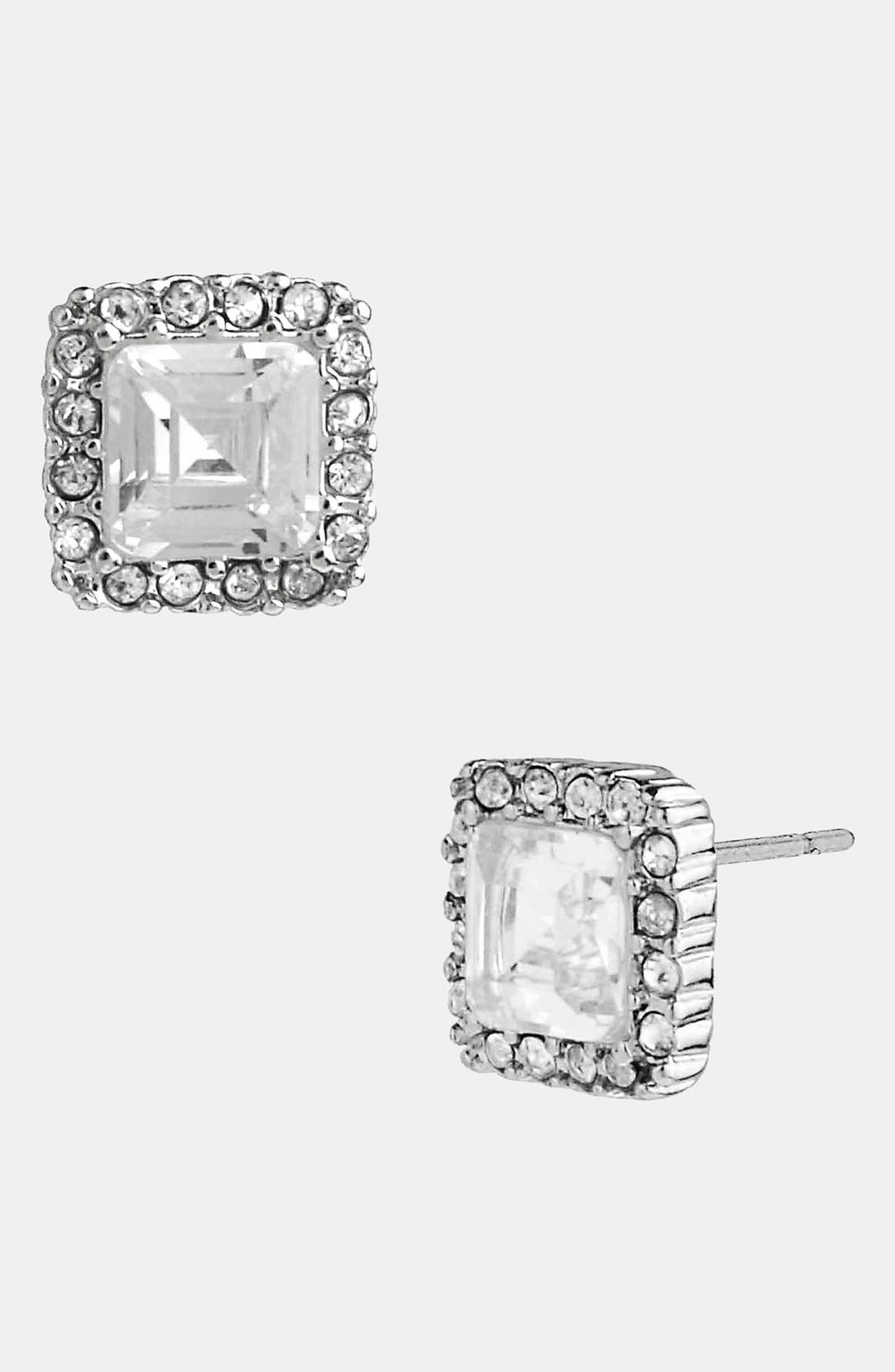 Alternate Image 1 Selected - Betsey Johnson Square Stud Earrings