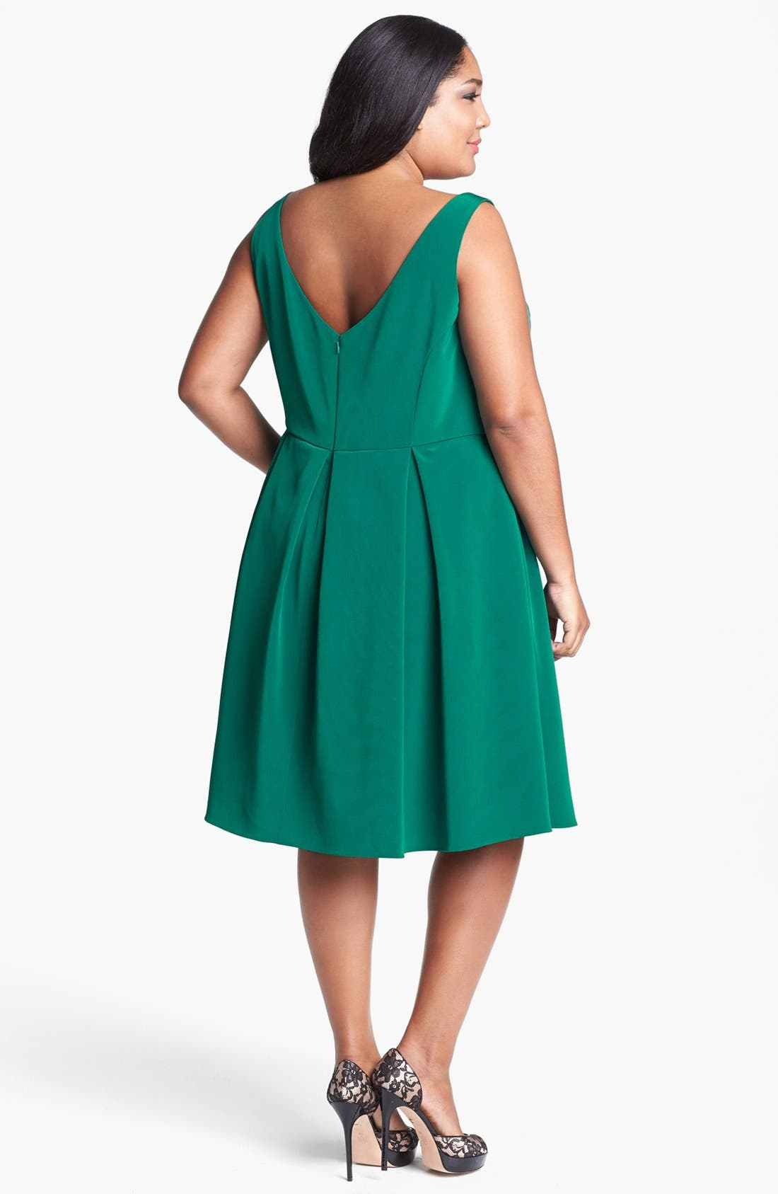 Alternate Image 2  - ABS Luxury Collection Fit & Flare Dress (Plus Size)