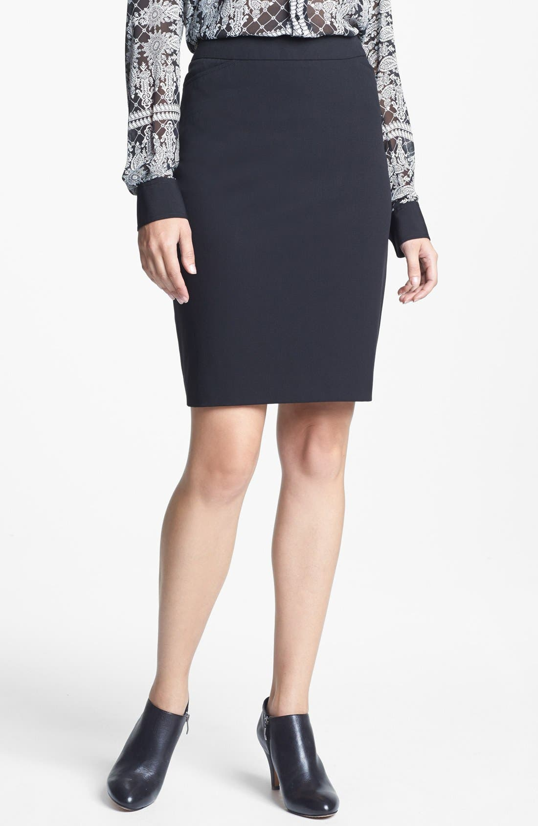 Main Image - Chaus Stretch Knit Pencil Skirt