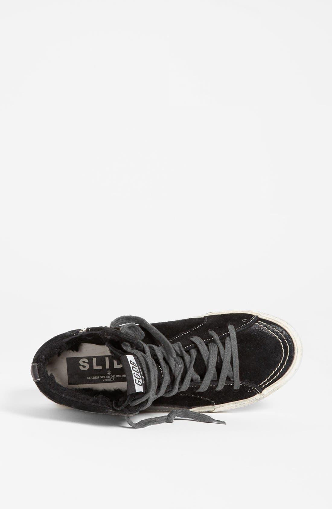 'Mid Top Slide' Sneaker,                             Alternate thumbnail 3, color,                             Black