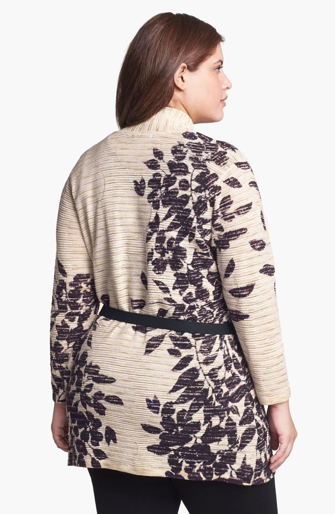 Alternate Image 2  - NIC+ZOE 'Evening Leaves' Cardigan (Plus Size)