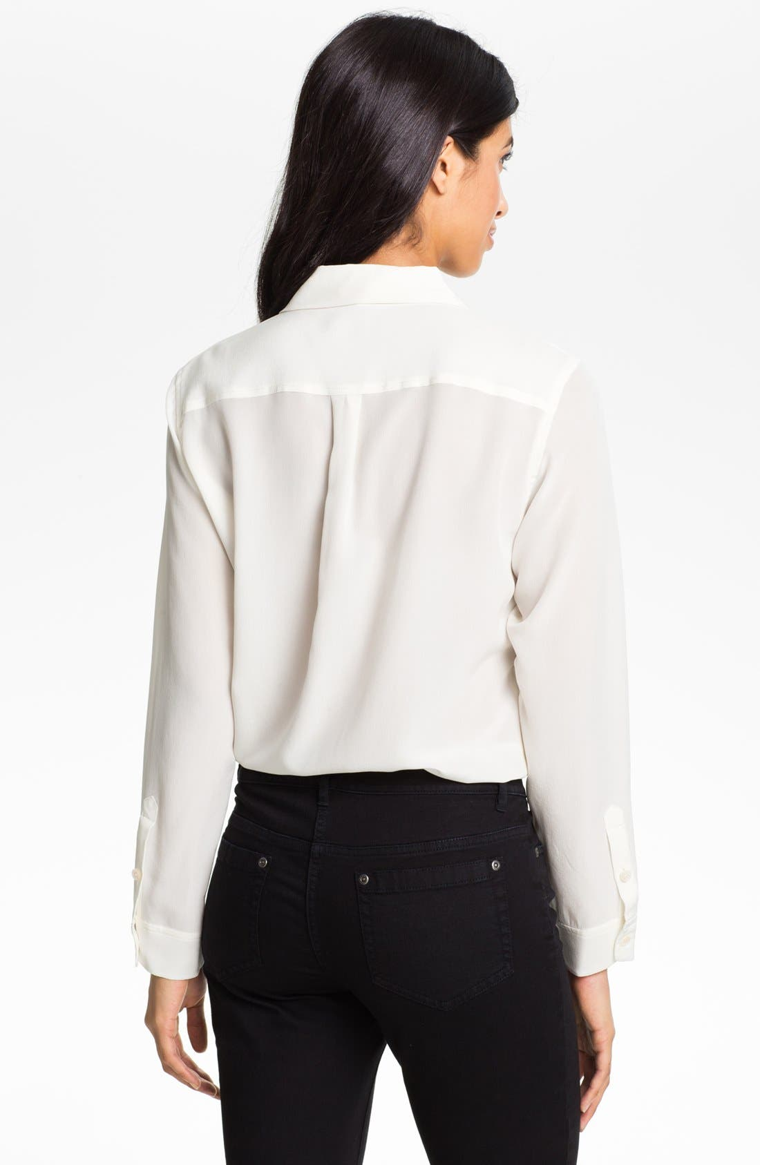 Alternate Image 3  - Two by Vince Camuto Silk Utility Blouse