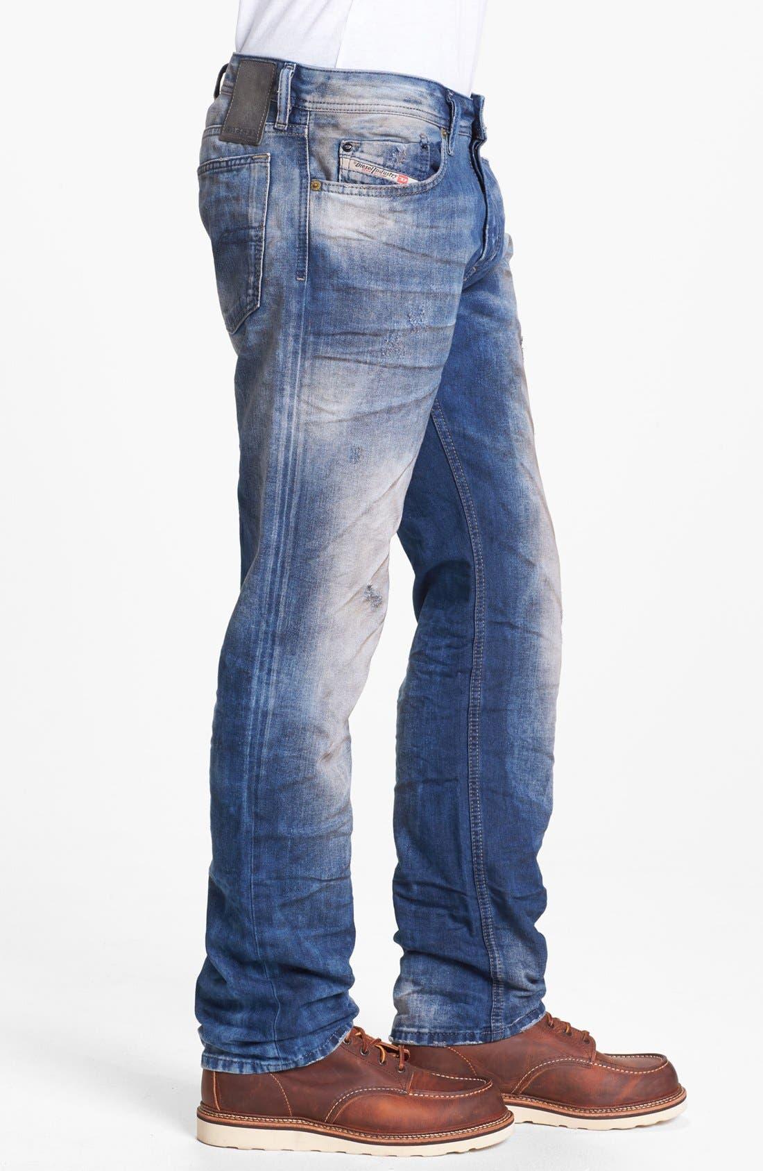 Alternate Image 3  - DIESEL® 'Waykee' Straight Leg Selvedge Jeans (0603Z)