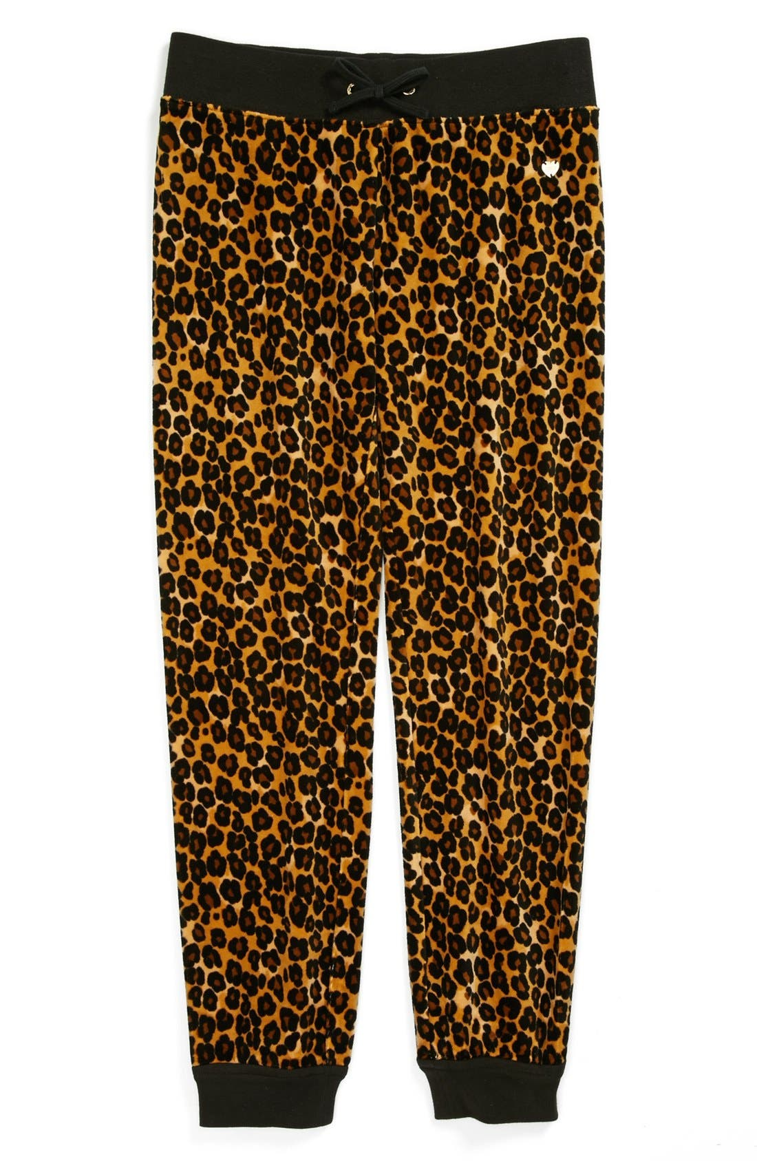 Alternate Image 1 Selected - Juicy Couture Leopard Print Velour Pants (Little Girls & Big Girls)