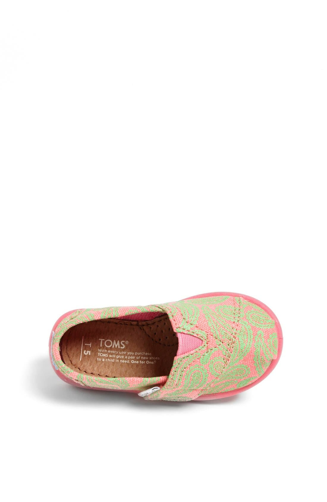 Alternate Image 3  - TOMS 'Classic Tiny - Paisley' Slip-On (Baby, Walker & Toddler)