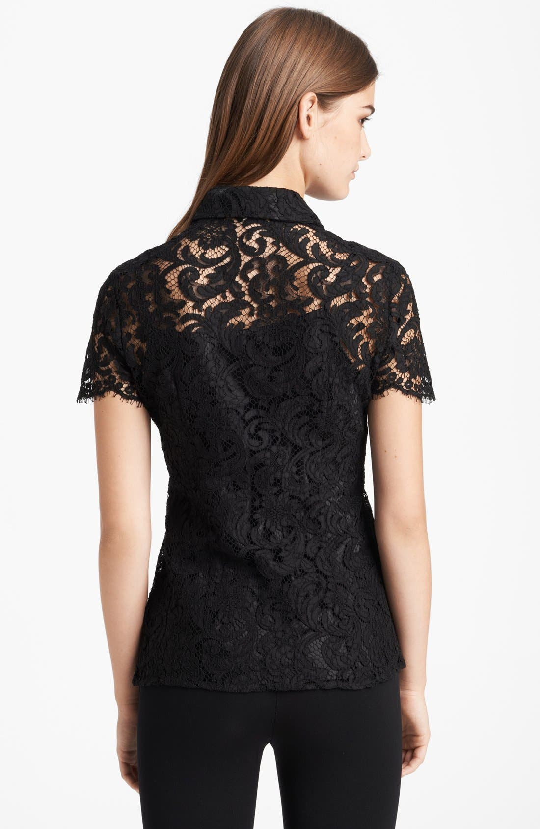 Alternate Image 2  - Burberry London Lace Blouse