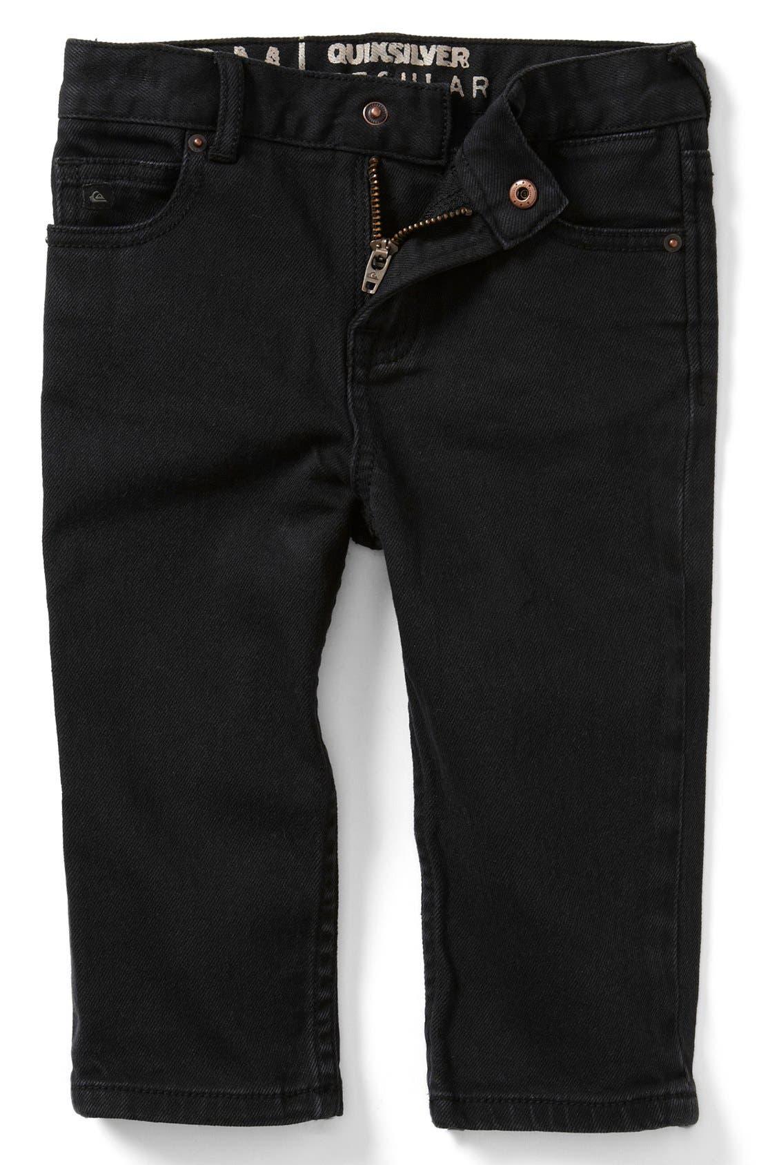 Alternate Image 2  - Quiksilver 'Distortion' Slim Straight Leg Jeans (Baby Boys)